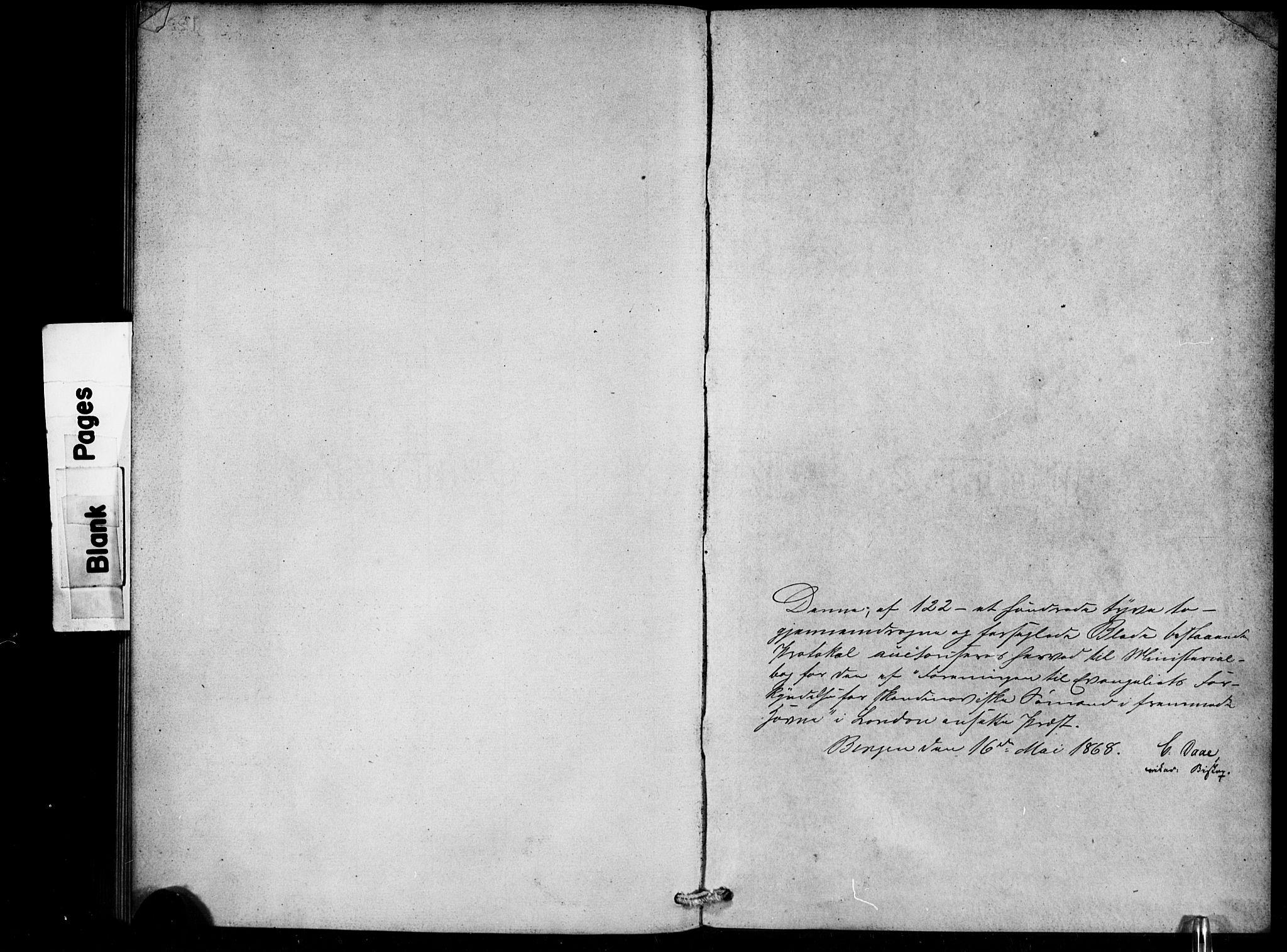 SAB, Den Norske Sjømannsmisjon i utlandet*, Ministerialbok nr. A 1, 1868-1887