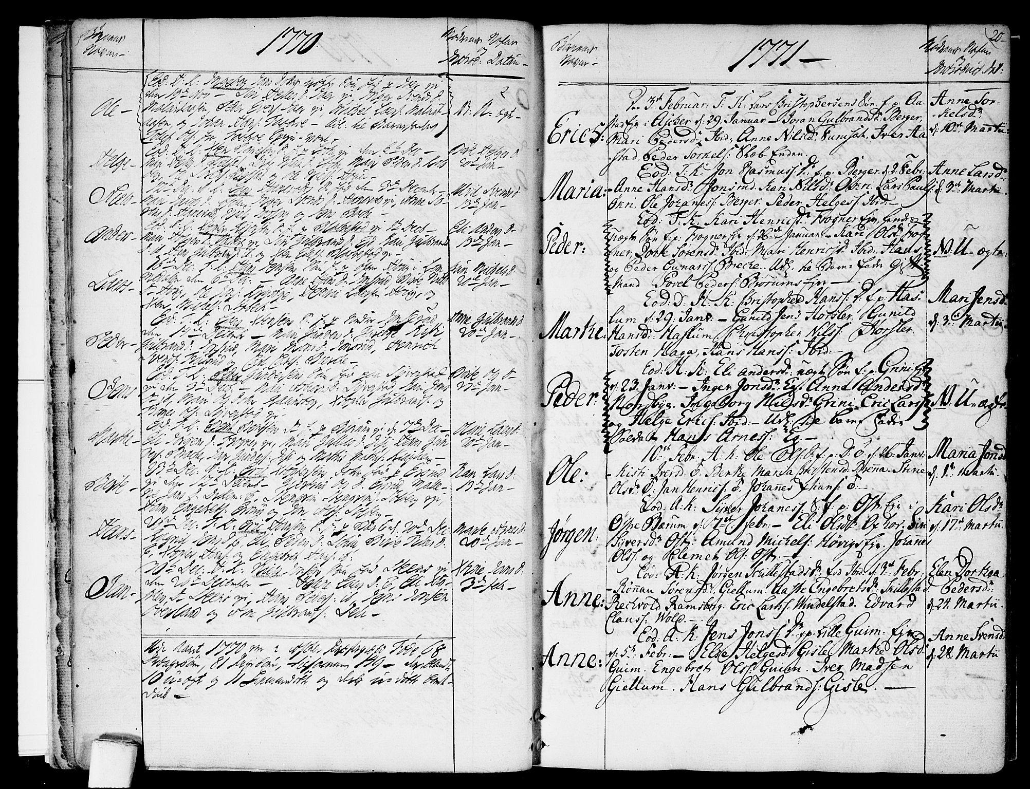 SAO, Asker prestekontor Kirkebøker, F/Fa/L0003: Ministerialbok nr. I 3, 1767-1807, s. 20