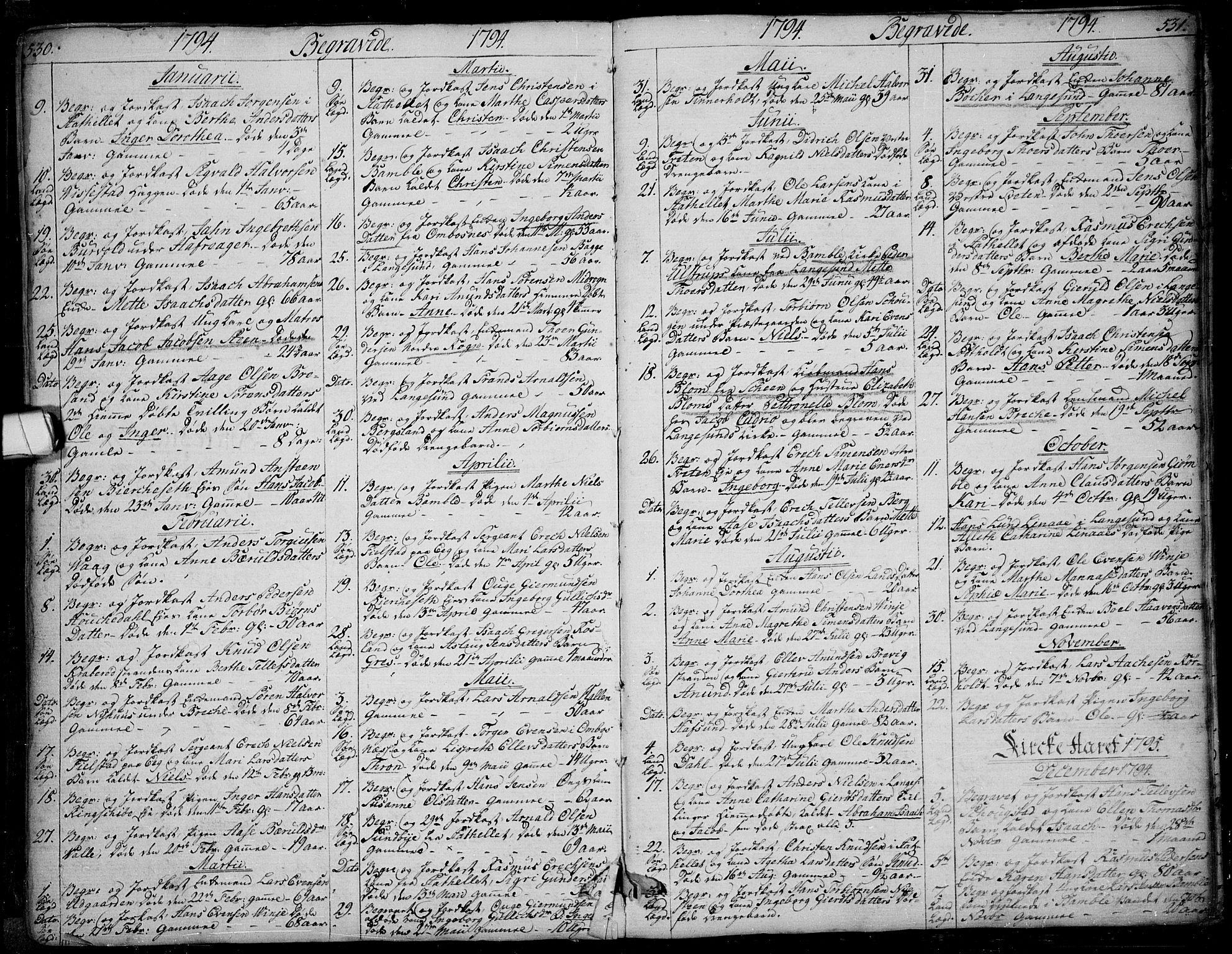 SAKO, Bamble kirkebøker, F/Fa/L0002: Ministerialbok nr. I 2, 1775-1814, s. 530-531