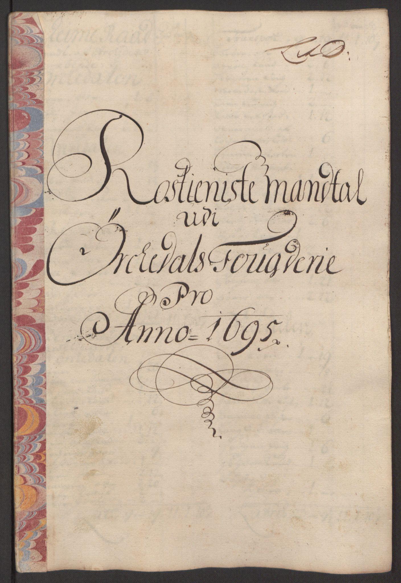 RA, Rentekammeret inntil 1814, Reviderte regnskaper, Fogderegnskap, R60/L3945: Fogderegnskap Orkdal og Gauldal, 1695, s. 131