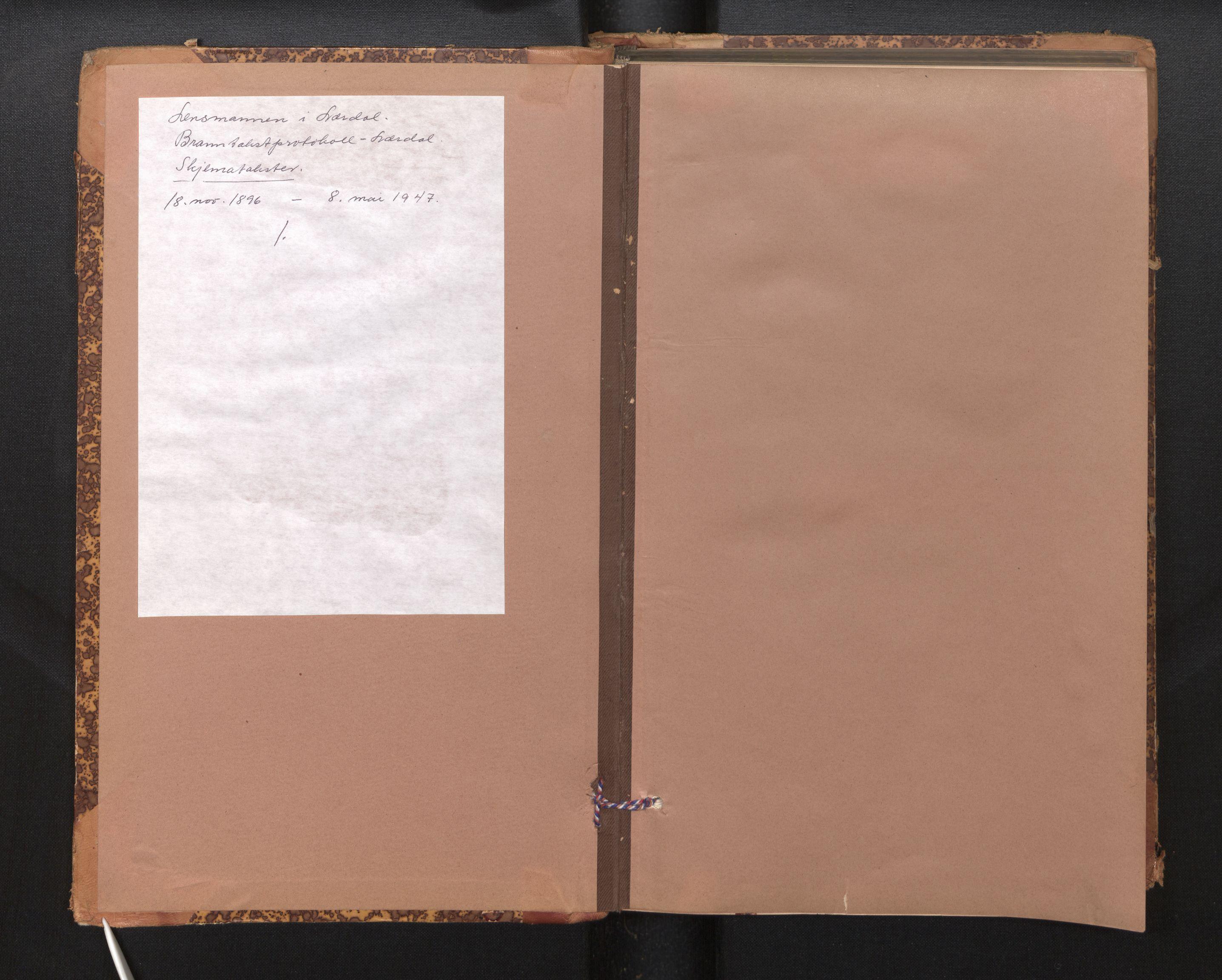 SAB, Lensmannen i Lærdal, 0012/L0006: Branntakstprotokoll, skjematakst, 1896-1947