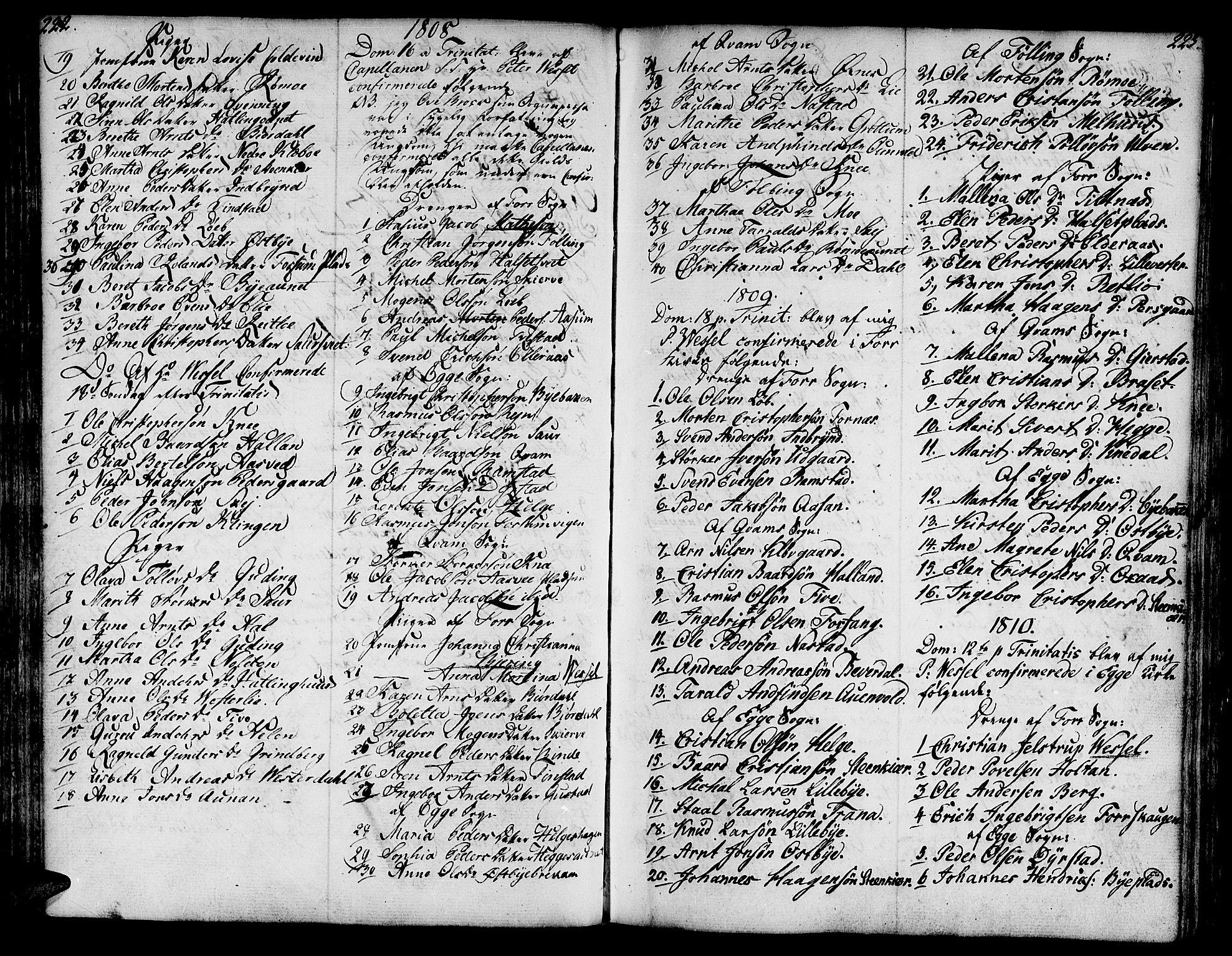SAT, Ministerialprotokoller, klokkerbøker og fødselsregistre - Nord-Trøndelag, 746/L0440: Ministerialbok nr. 746A02, 1760-1815, s. 222-223