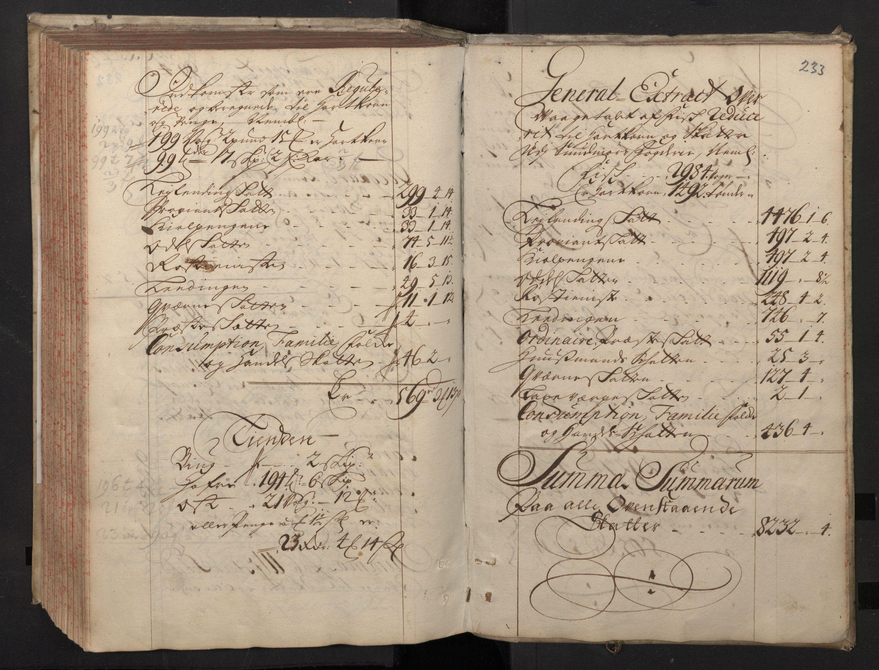 RA, Rentekammeret inntil 1814, Realistisk ordnet avdeling, N/Nb/Nbf/L0148: Sunnmøre, prøvematrikkel, 1714, s. 232b-233a