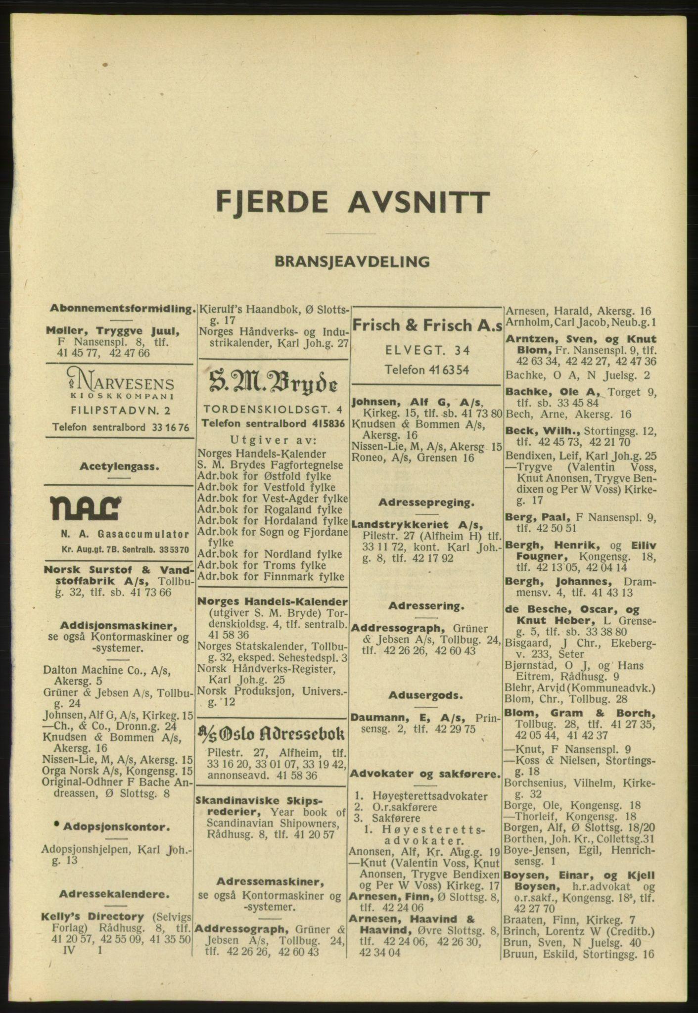 PUBL, Kristiania/Oslo adressebok, 1952, s. 2317