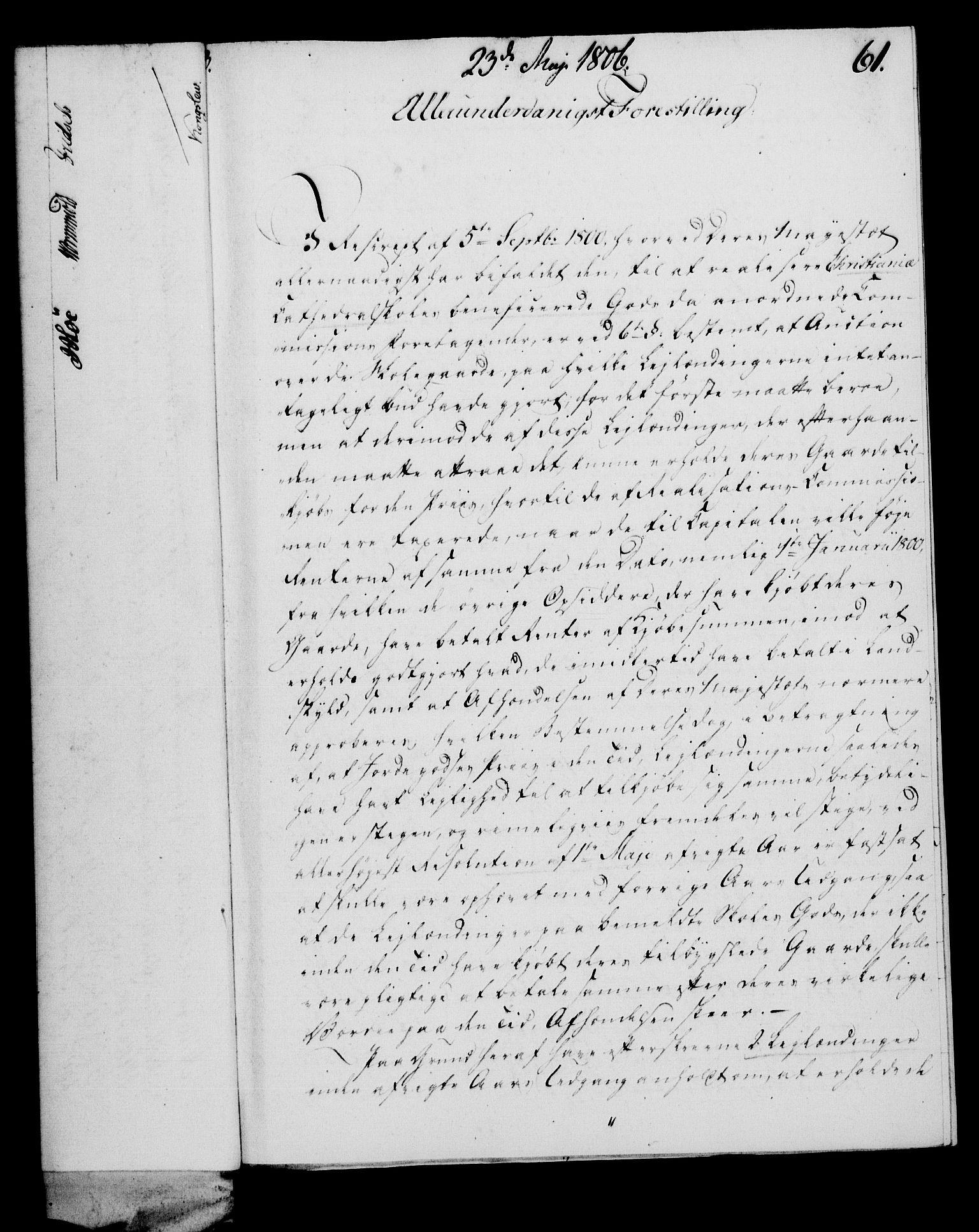 RA, Rentekammeret, Kammerkanselliet, G/Gf/Gfa/L0088: Norsk relasjons- og resolusjonsprotokoll (merket RK 52.88), 1806, s. 371