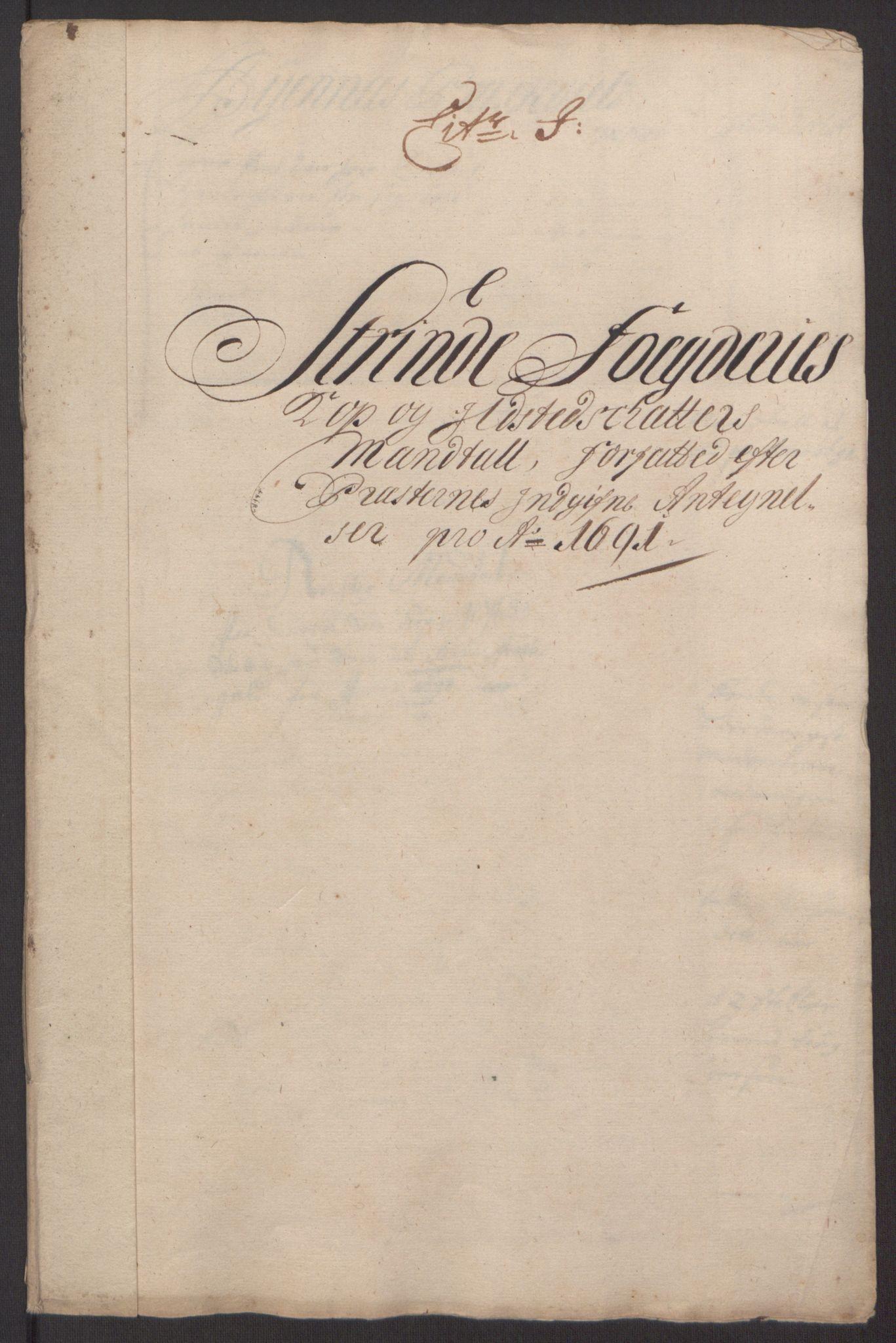 RA, Rentekammeret inntil 1814, Reviderte regnskaper, Fogderegnskap, R61/L4103: Fogderegnskap Strinda og Selbu, 1691-1692, s. 92