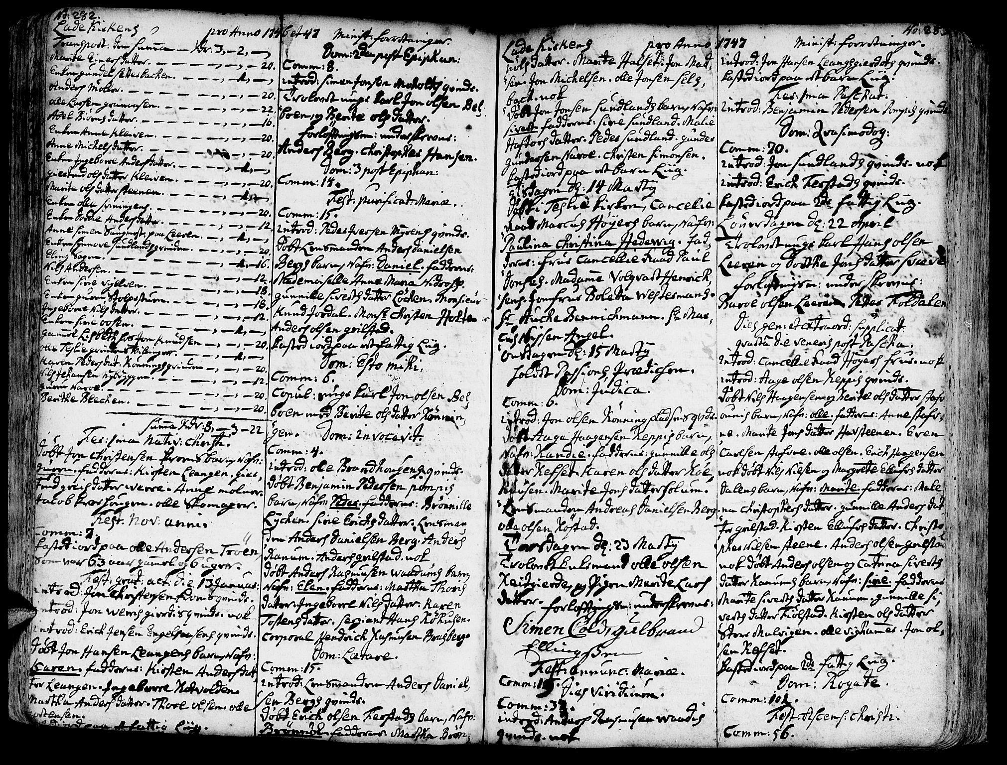SAT, Ministerialprotokoller, klokkerbøker og fødselsregistre - Sør-Trøndelag, 606/L0275: Ministerialbok nr. 606A01 /1, 1727-1780, s. 282-283