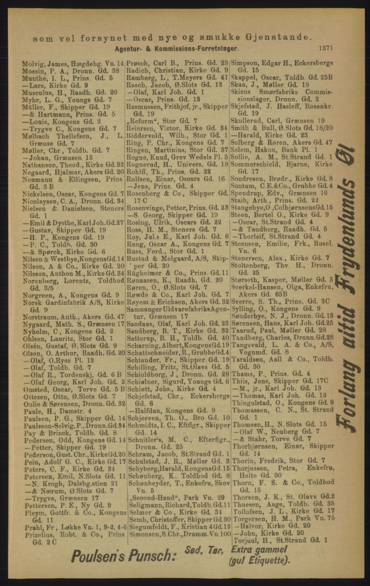 RA, Kristiania adressebok (publikasjon)*, 1906, s. 1371