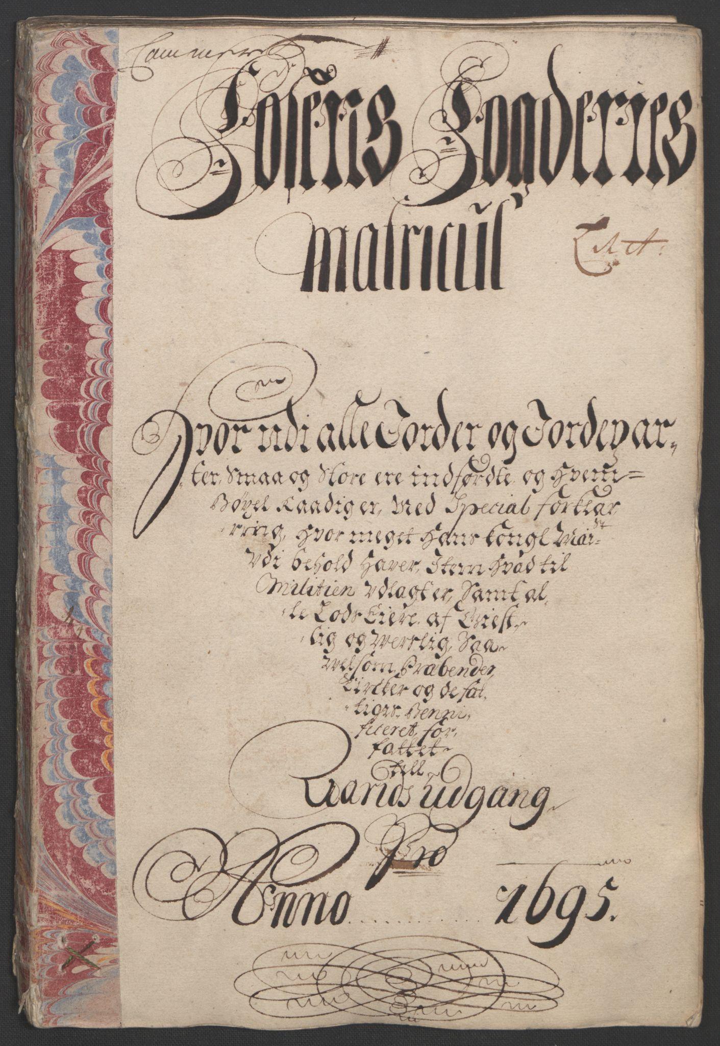 RA, Rentekammeret inntil 1814, Reviderte regnskaper, Fogderegnskap, R57/L3851: Fogderegnskap Fosen, 1695-1696, s. 16