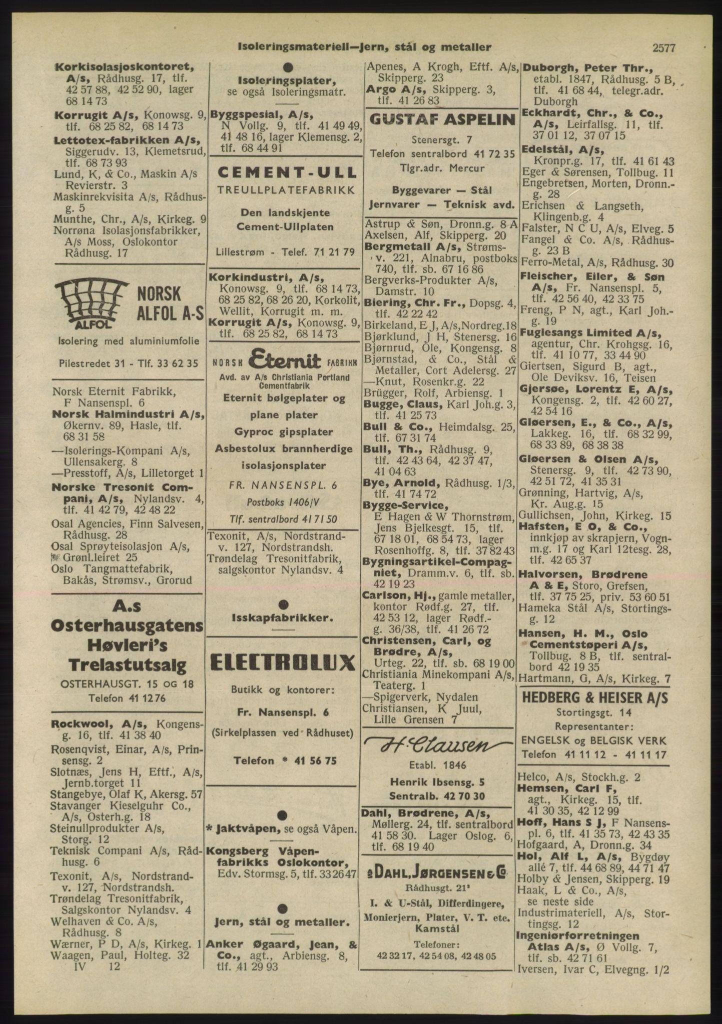 PUBL, Kristiania/Oslo adressebok, 1955, s. 2577