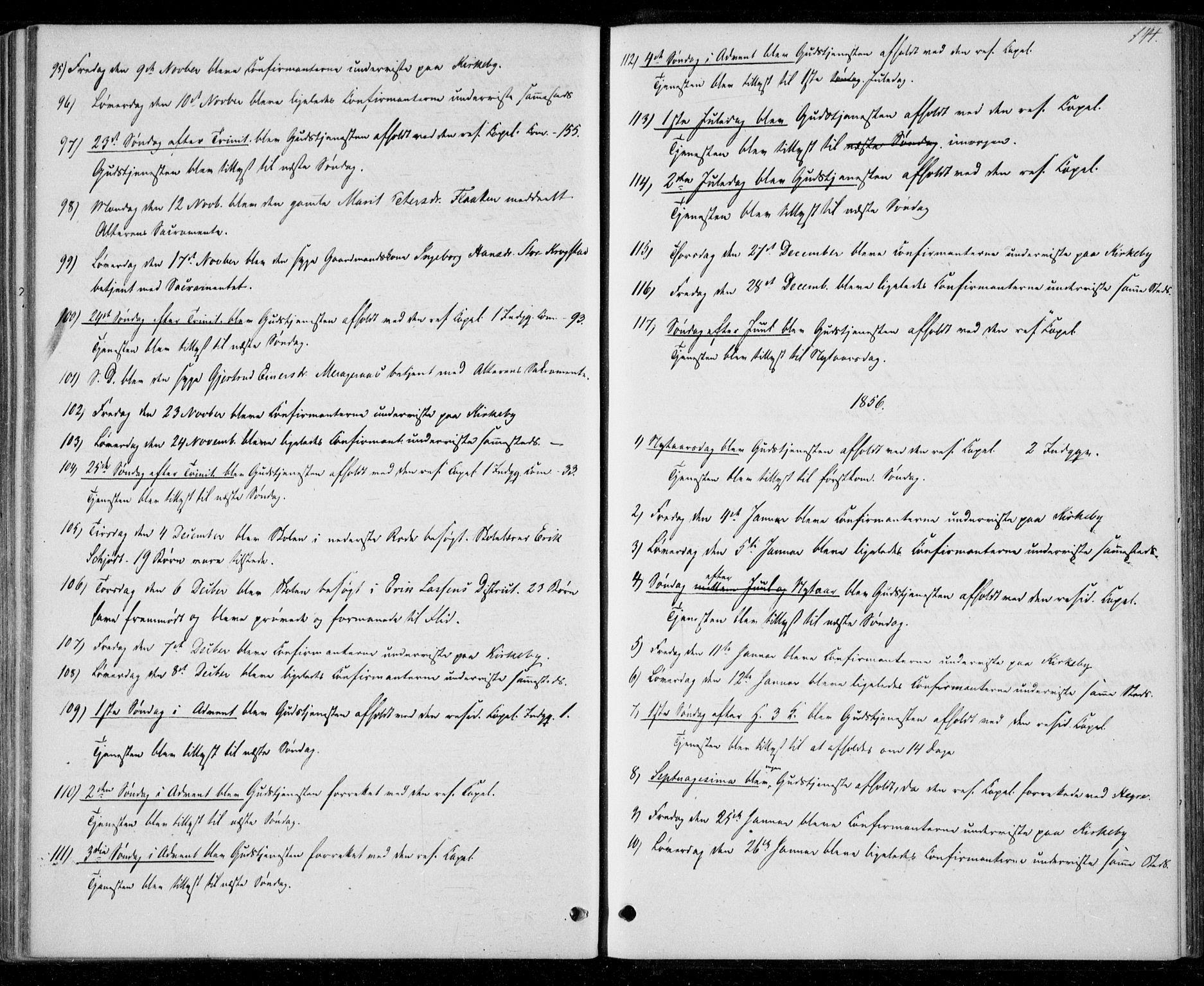 SAT, Ministerialprotokoller, klokkerbøker og fødselsregistre - Nord-Trøndelag, 706/L0040: Ministerialbok nr. 706A01, 1850-1861, s. 144