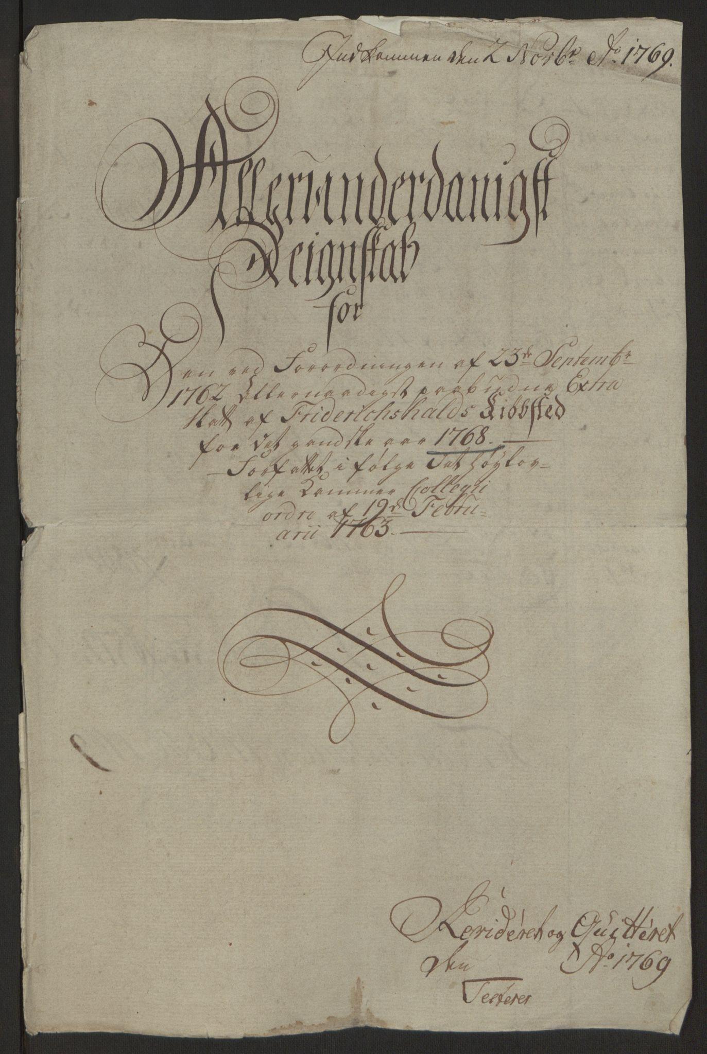RA, Rentekammeret inntil 1814, Reviderte regnskaper, Byregnskaper, R/Ra/L0006: [A4] Kontribusjonsregnskap, 1762-1772, s. 144