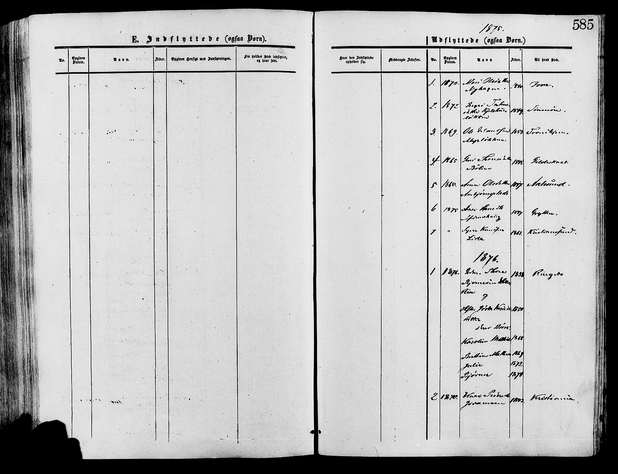 SAH, Lesja prestekontor, Ministerialbok nr. 8, 1854-1880, s. 585