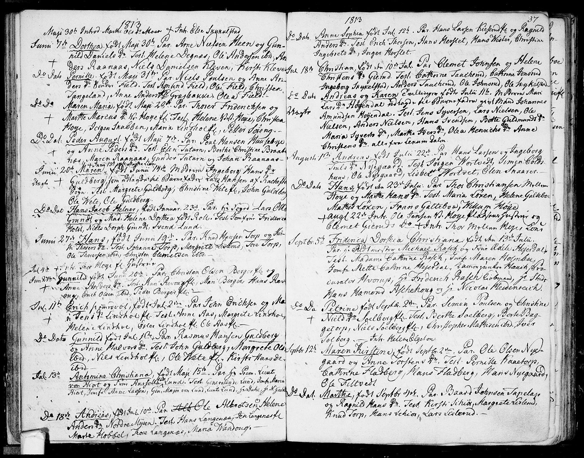 SAO, Eidsberg prestekontor Kirkebøker, F/Fa/L0006: Ministerialbok nr. I 6, 1807-1814, s. 37