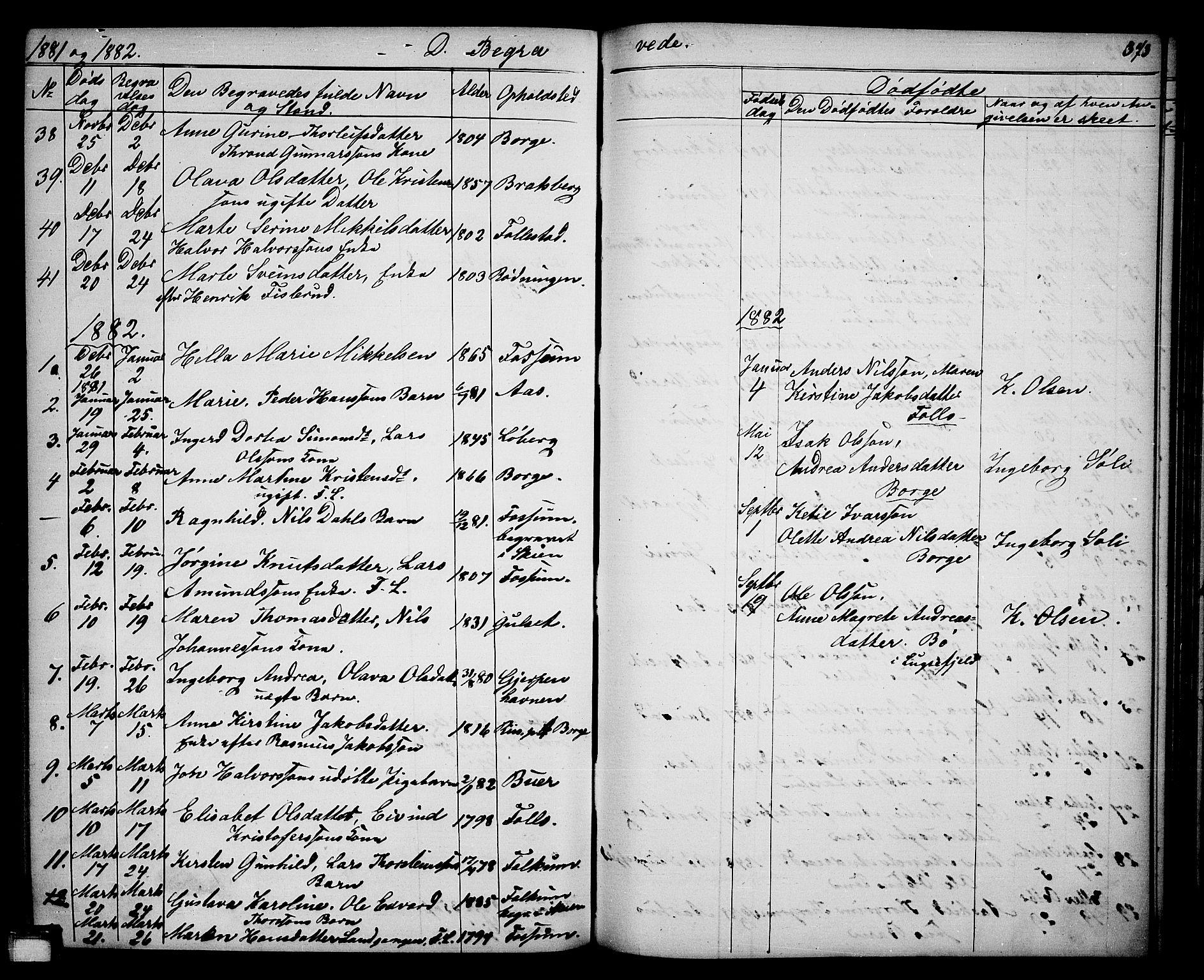 SAKO, Gjerpen kirkebøker, G/Ga/L0001: Klokkerbok nr. I 1, 1864-1882, s. 373