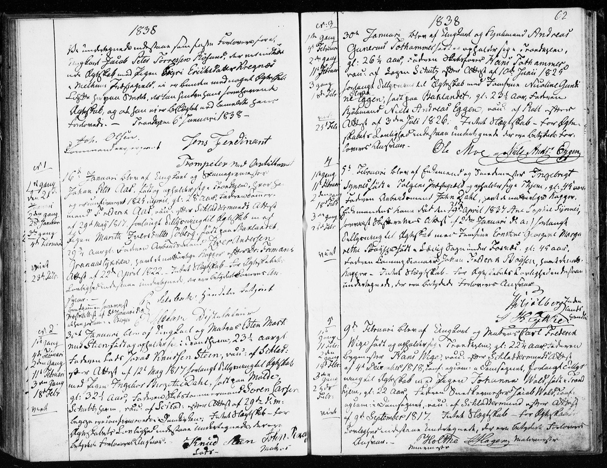 SAT, Ministerialprotokoller, klokkerbøker og fødselsregistre - Sør-Trøndelag, 601/L0046: Ministerialbok nr. 601A14, 1830-1841, s. 62
