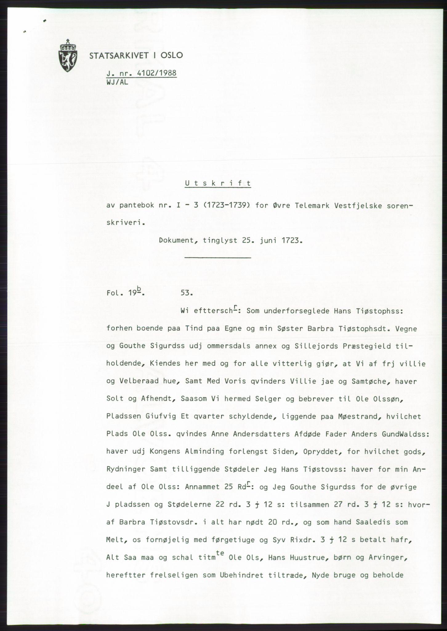 SAKO, Statsarkivet i Kongsberg*, 1988, s. 353