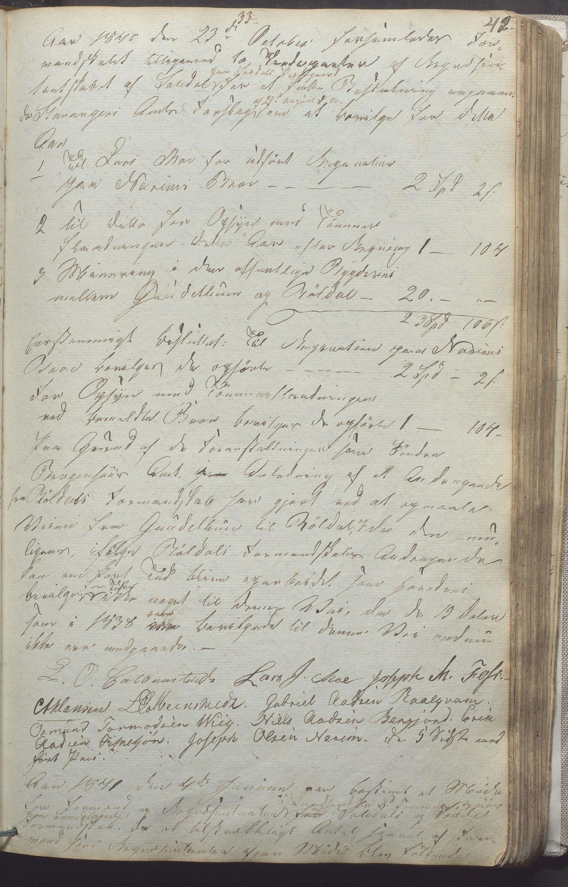 IKAR, Suldal kommune - Formannskapet/Rådmannen, A/Aa/L0001: Møtebok, 1837-1876, s. 42a