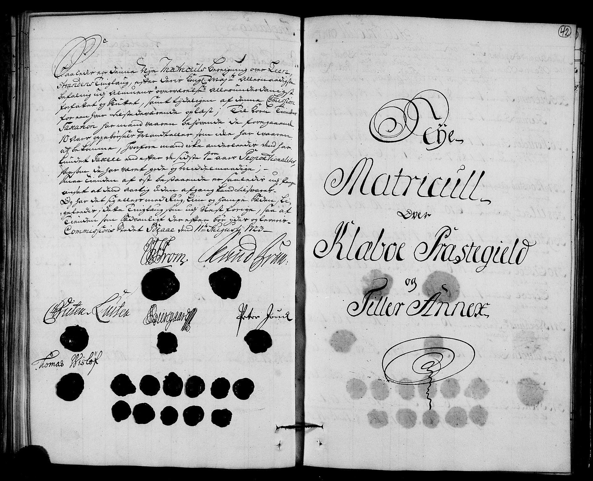 RA, Rentekammeret inntil 1814, Realistisk ordnet avdeling, N/Nb/Nbf/L0161: Strinda og Selbu matrikkelprotokoll, 1723, s. 41b-42a