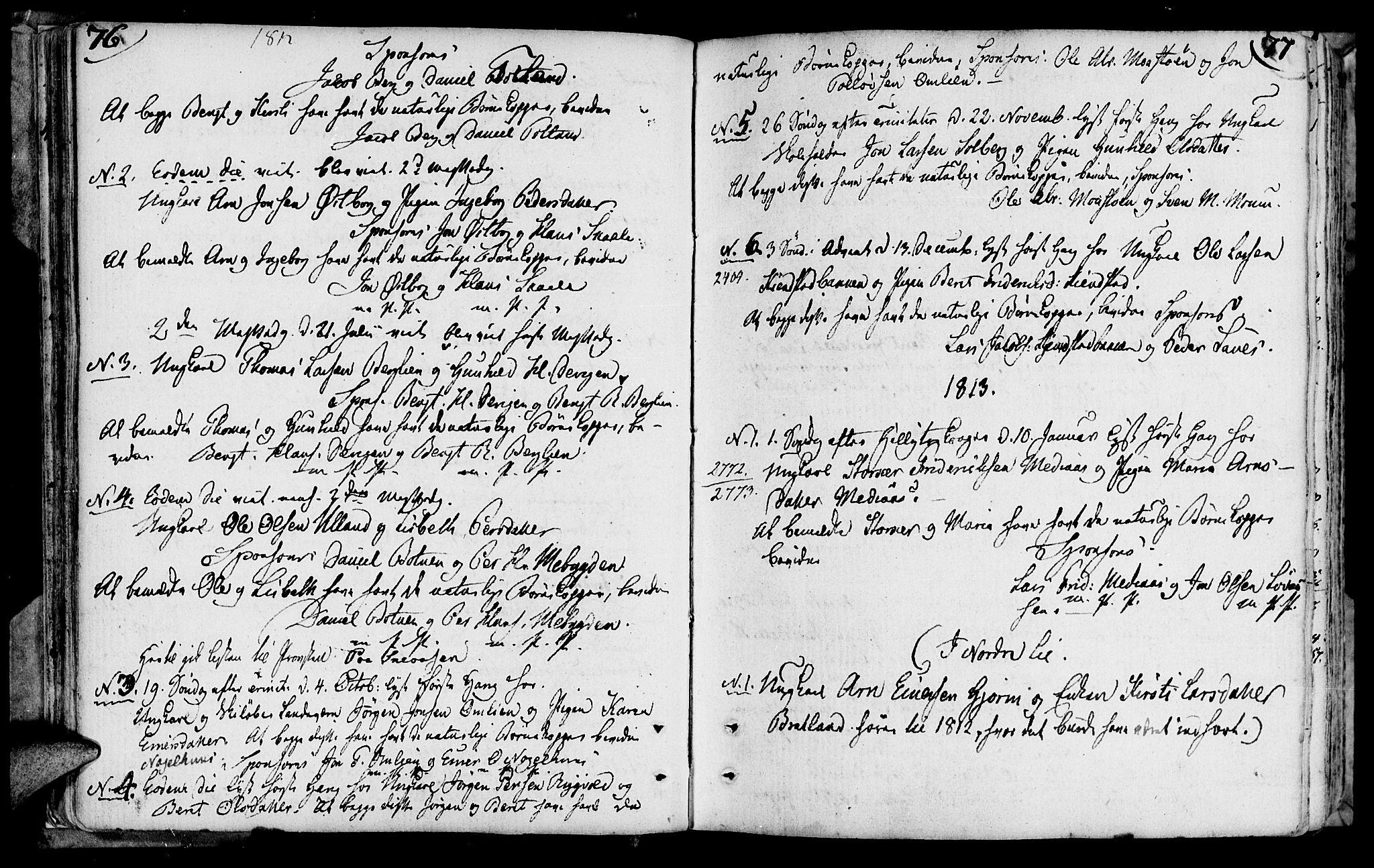 SAT, Ministerialprotokoller, klokkerbøker og fødselsregistre - Nord-Trøndelag, 749/L0468: Ministerialbok nr. 749A02, 1787-1817, s. 76-77