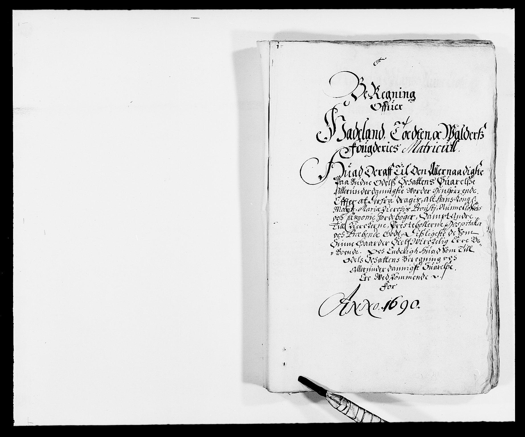 RA, Rentekammeret inntil 1814, Reviderte regnskaper, Fogderegnskap, R18/L1289: Fogderegnskap Hadeland, Toten og Valdres, 1690, s. 69
