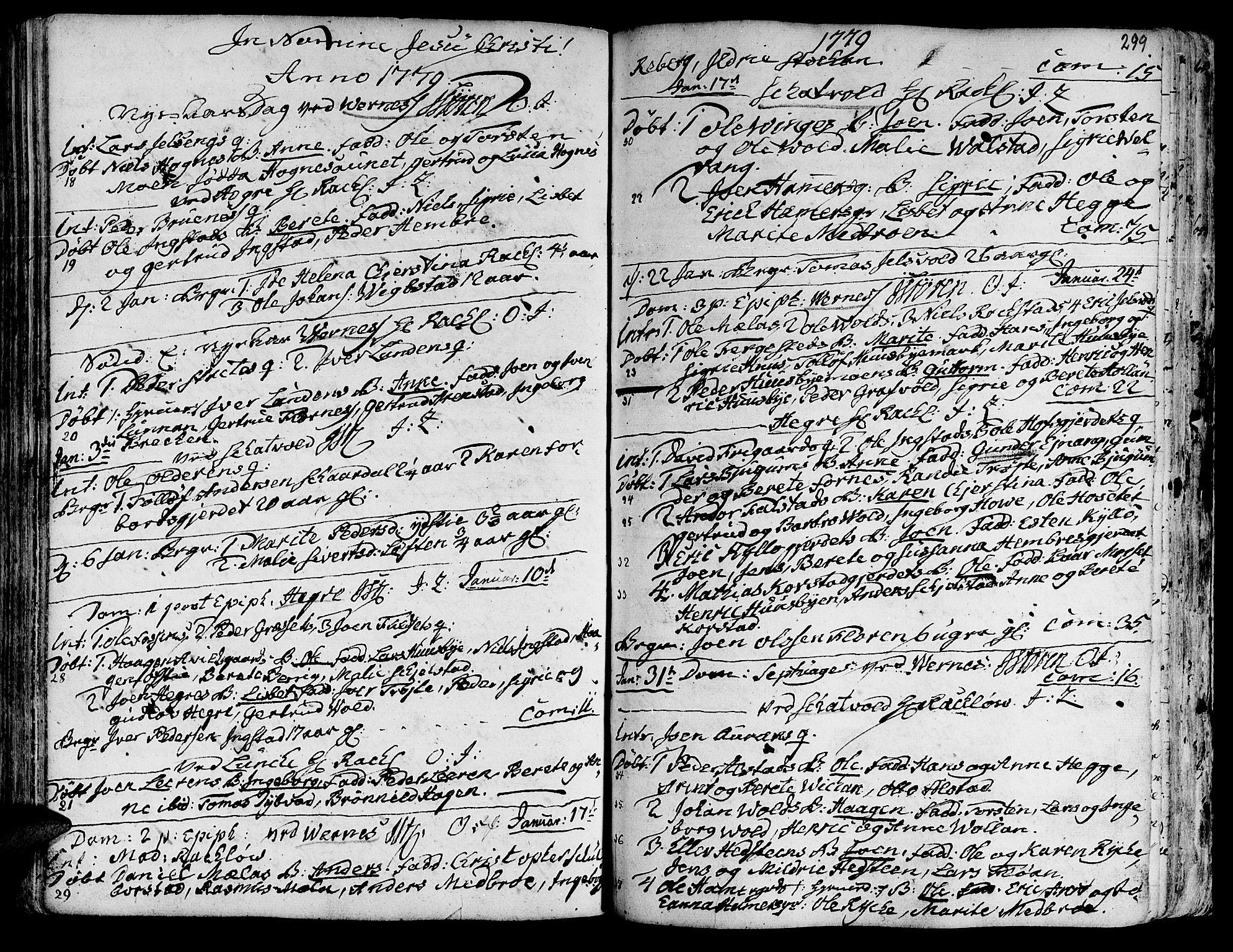SAT, Ministerialprotokoller, klokkerbøker og fødselsregistre - Nord-Trøndelag, 709/L0057: Ministerialbok nr. 709A05, 1755-1780, s. 299