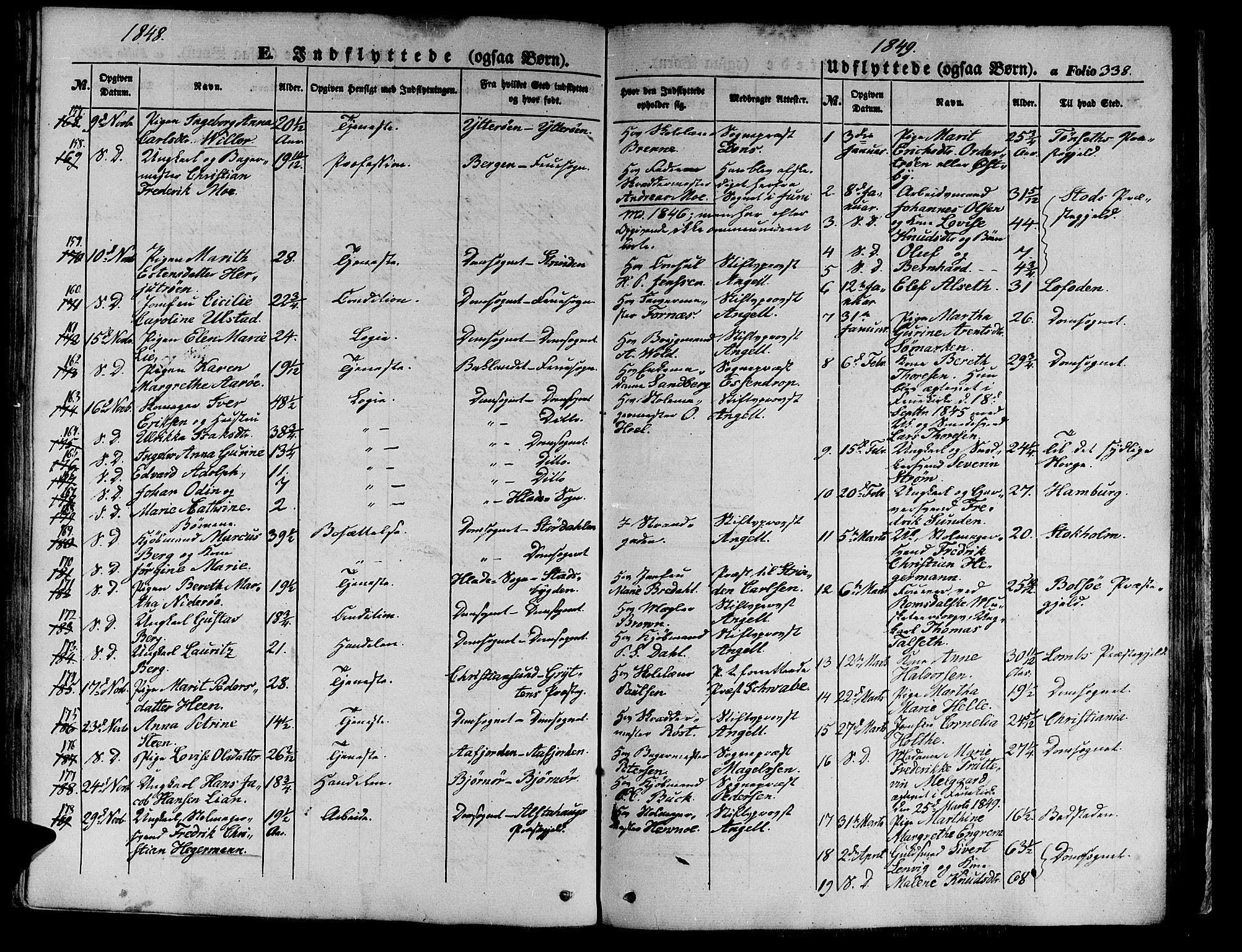 SAT, Ministerialprotokoller, klokkerbøker og fødselsregistre - Sør-Trøndelag, 602/L0137: Klokkerbok nr. 602C05, 1846-1856, s. 338