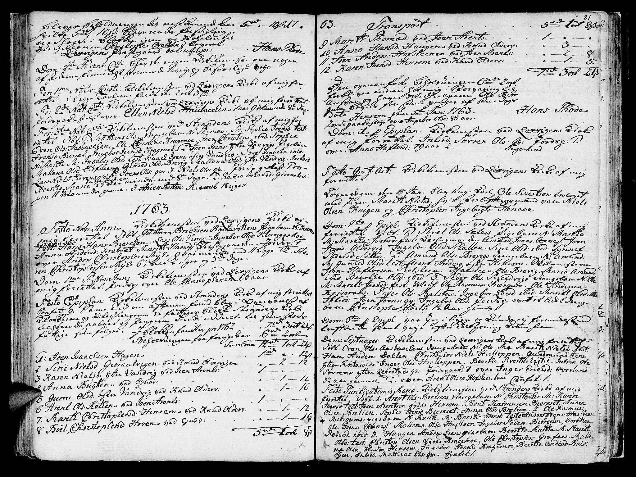 SAT, Ministerialprotokoller, klokkerbøker og fødselsregistre - Nord-Trøndelag, 701/L0003: Ministerialbok nr. 701A03, 1751-1783, s. 81
