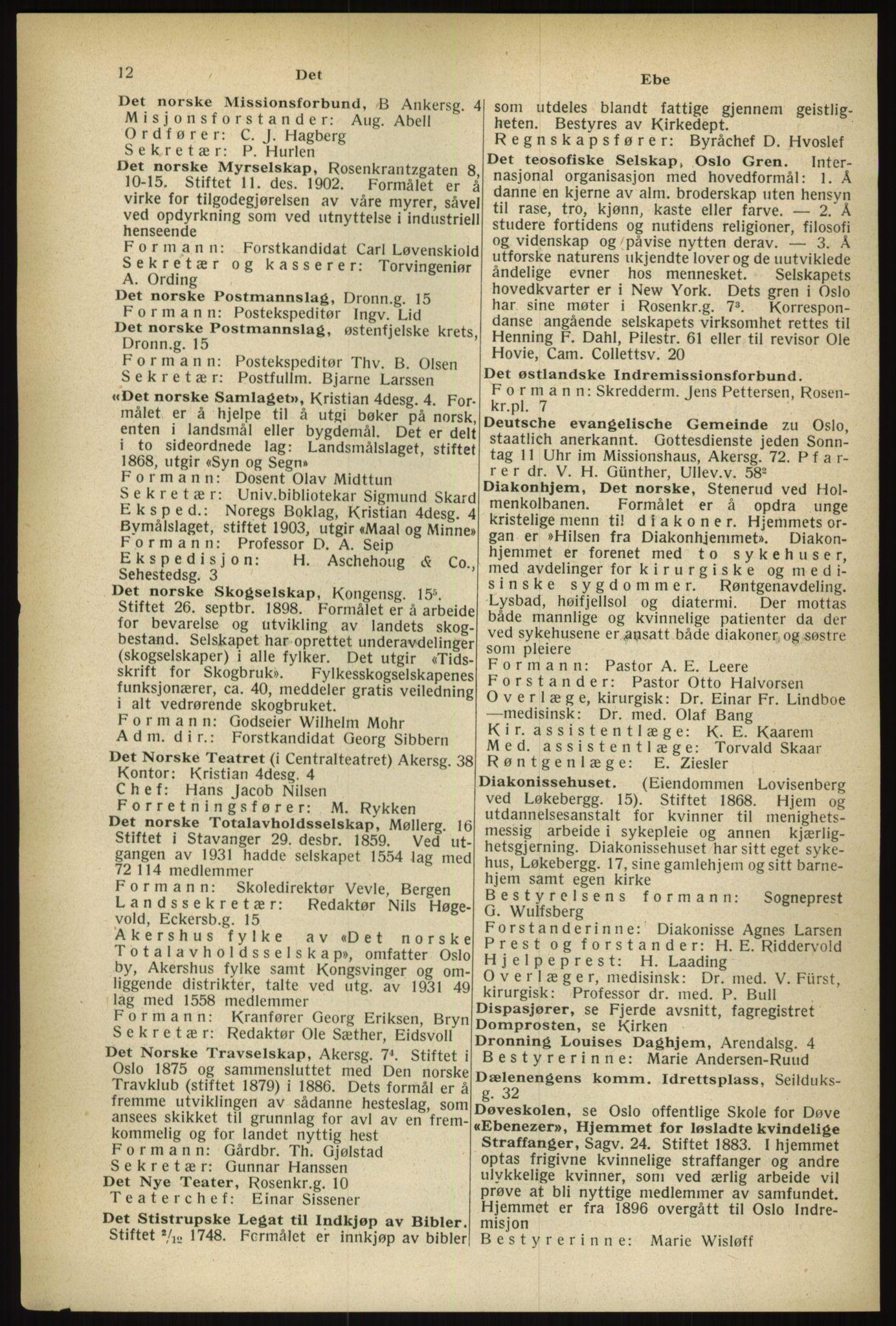 PUBL, Kristiania/Oslo adressebok, 1933, s. 12