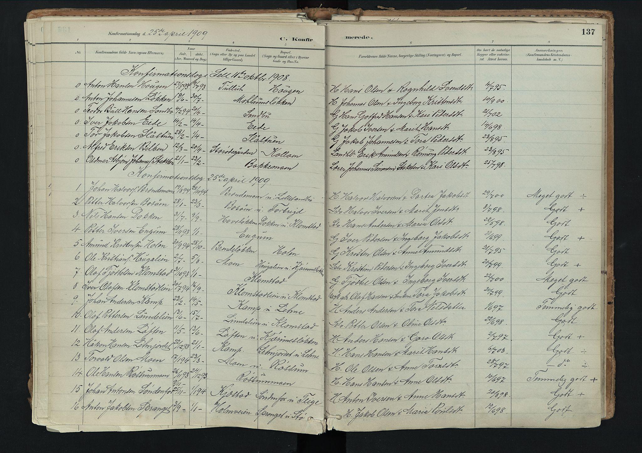 SAH, Nord-Fron prestekontor, Ministerialbok nr. 3, 1884-1914, s. 137