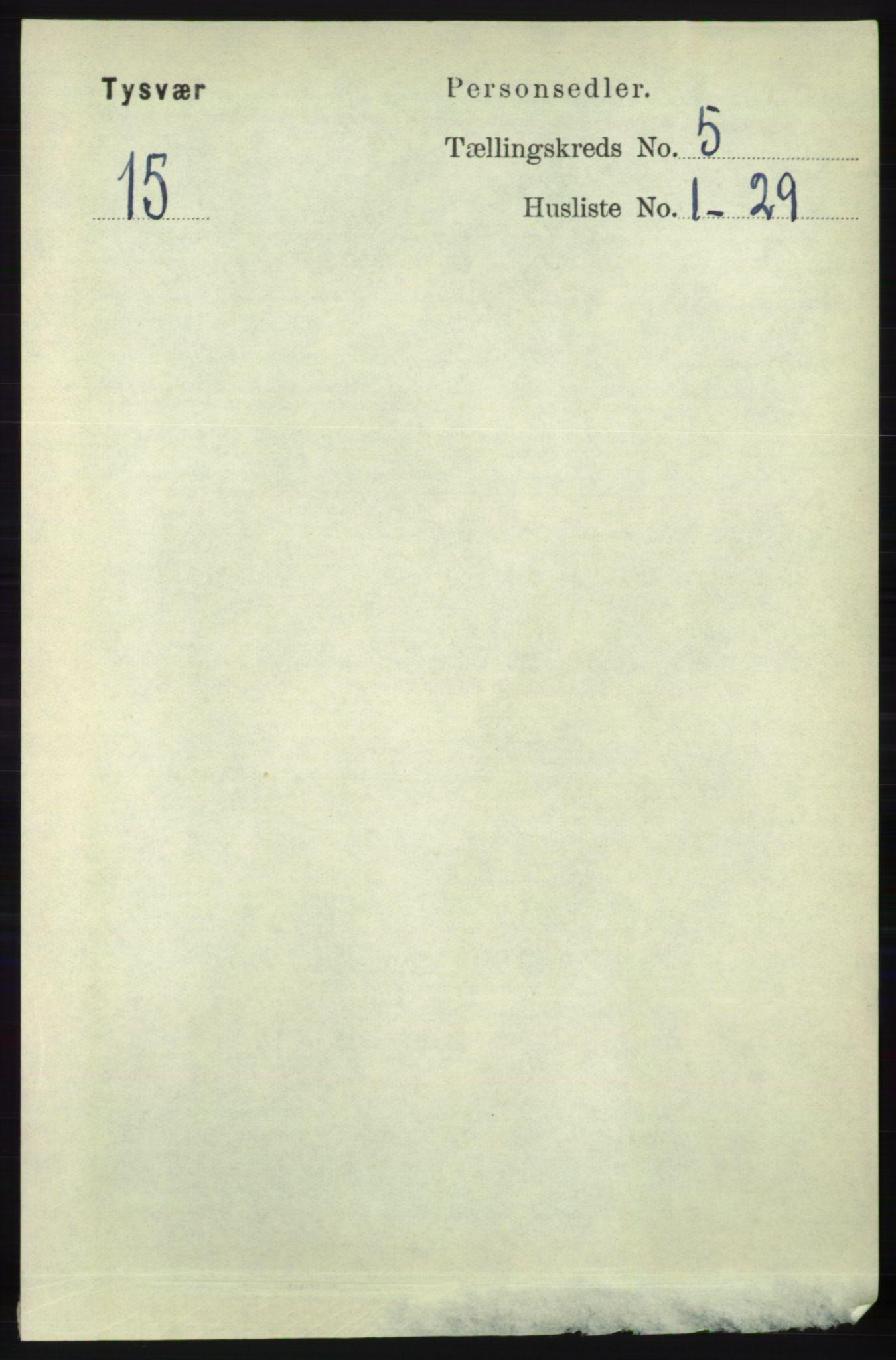 RA, Folketelling 1891 for 1146 Tysvær herred, 1891, s. 1893