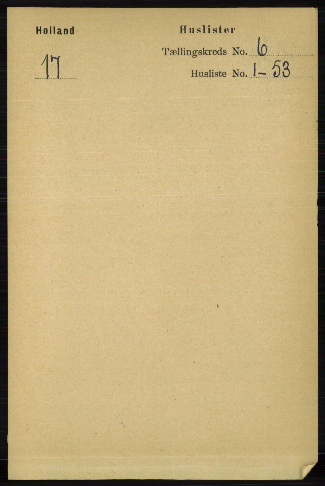 RA, Folketelling 1891 for 1123 Høyland herred, 1891, s. 1918