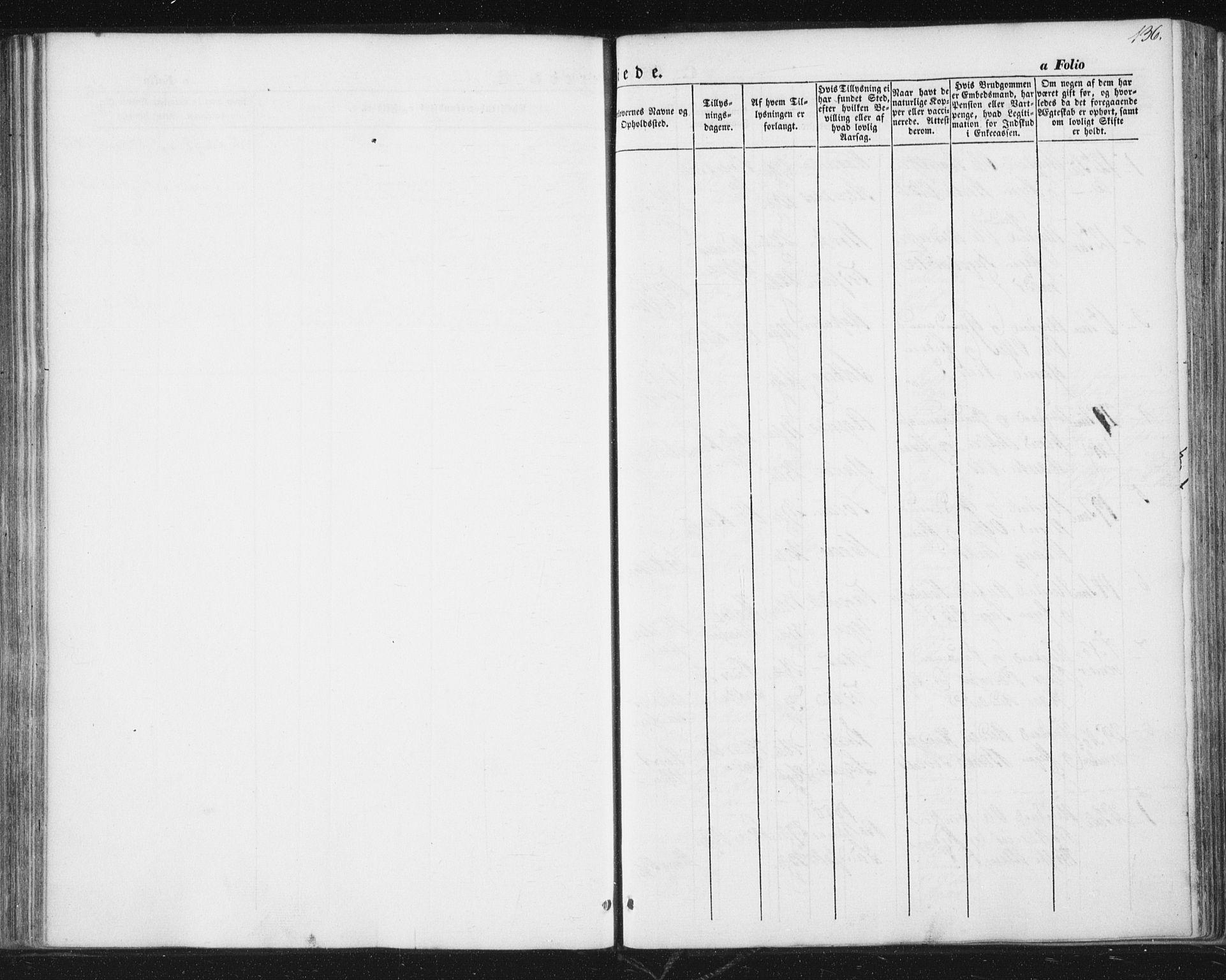 SAT, Ministerialprotokoller, klokkerbøker og fødselsregistre - Sør-Trøndelag, 689/L1038: Ministerialbok nr. 689A03, 1848-1872, s. 136