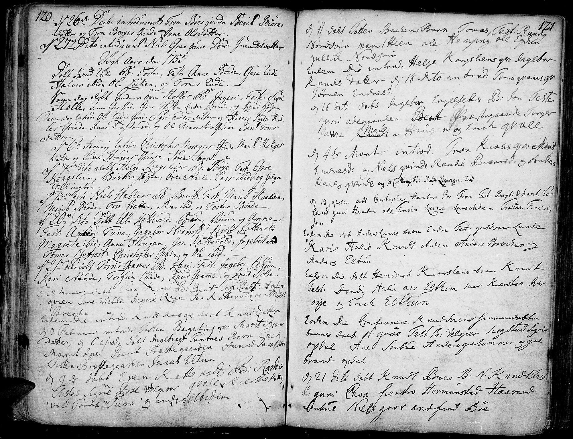 SAH, Vang prestekontor, Valdres, Ministerialbok nr. 1, 1730-1796, s. 120-121