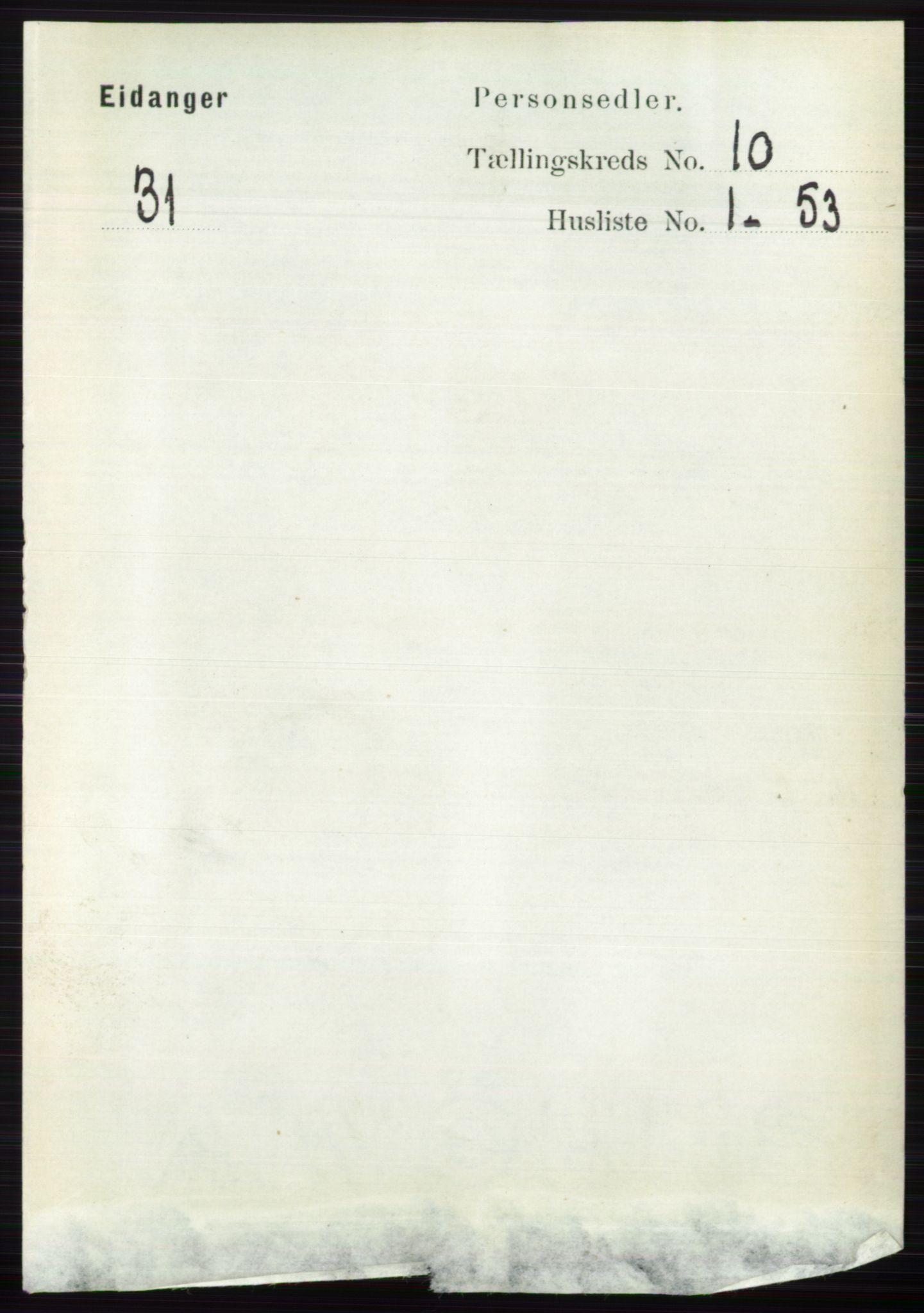 RA, Folketelling 1891 for 0813 Eidanger herred, 1891, s. 3934