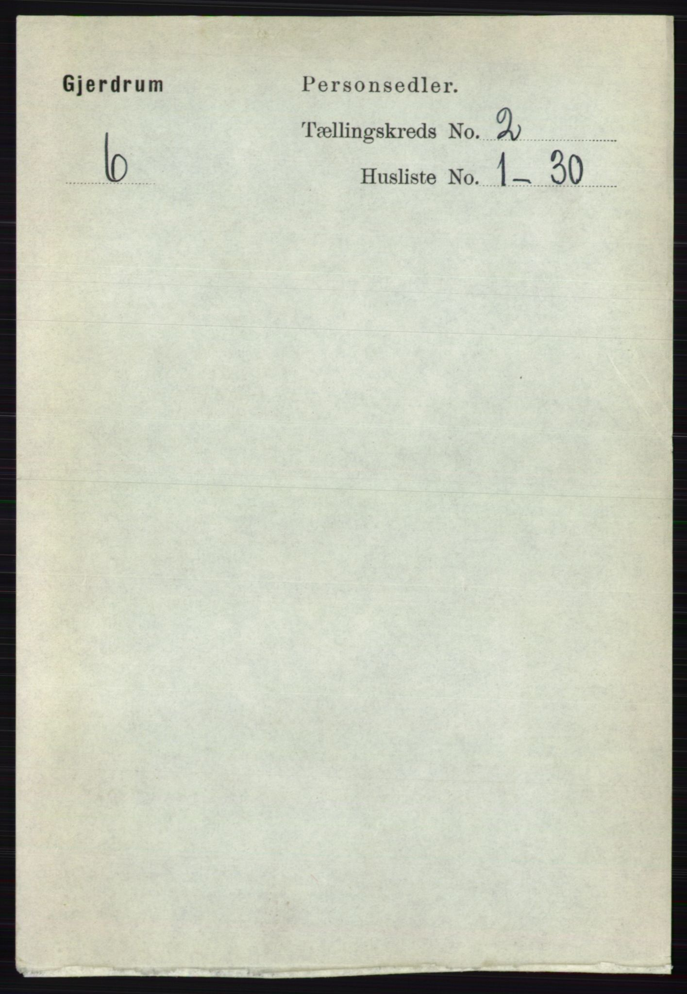 RA, Folketelling 1891 for 0234 Gjerdrum herred, 1891, s. 609