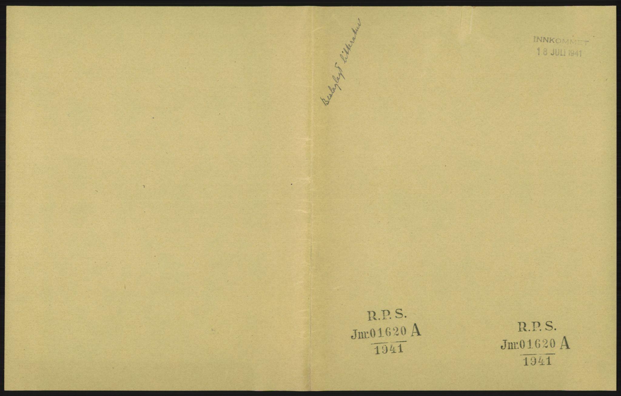 RA, Statspolitiet - Hovedkontoret / Osloavdelingen, F/L0091: Beslaglagt litteratur, 1941-1943, s. 1029