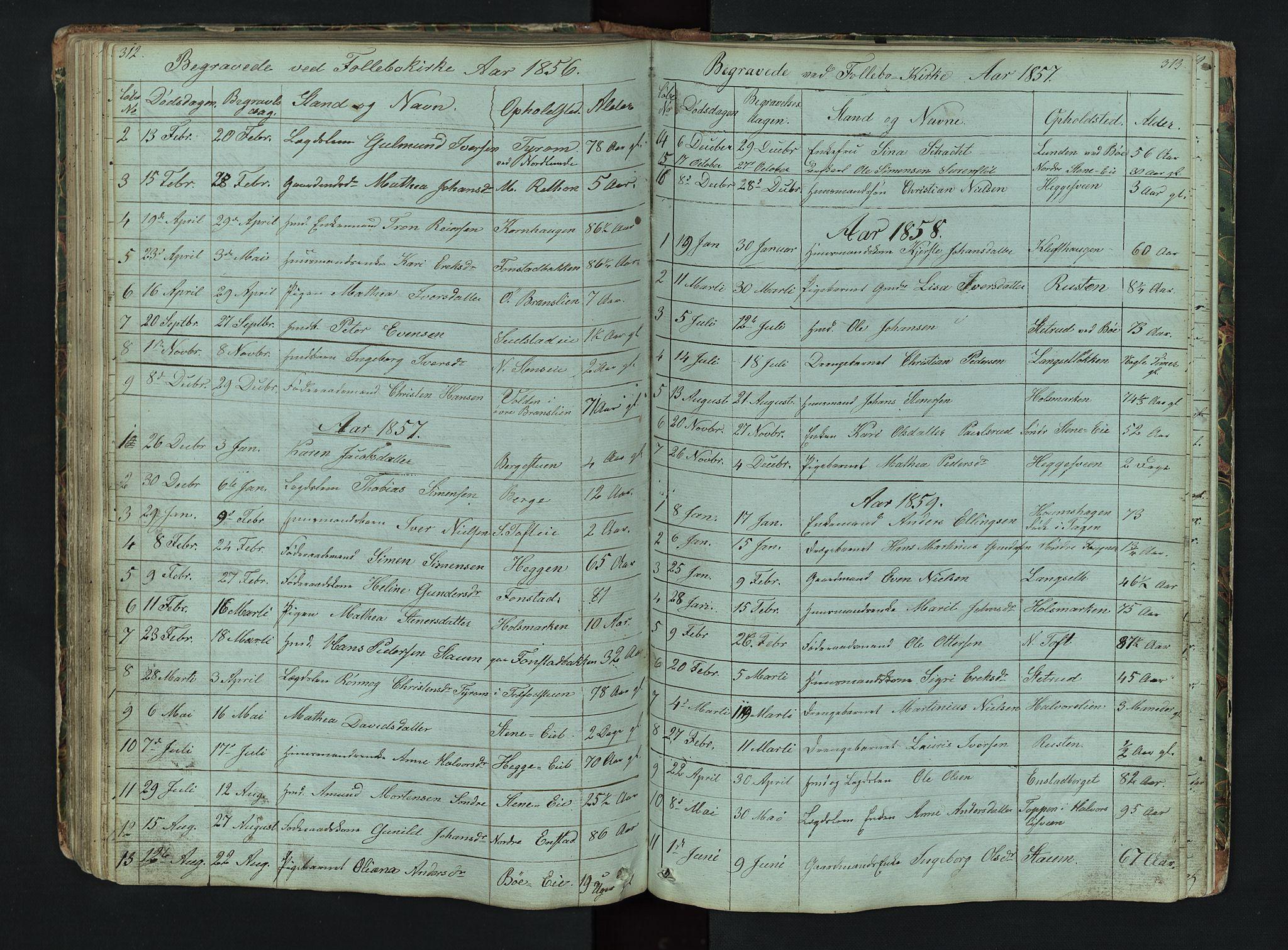 SAH, Gausdal prestekontor, Klokkerbok nr. 6, 1846-1893, s. 312-313