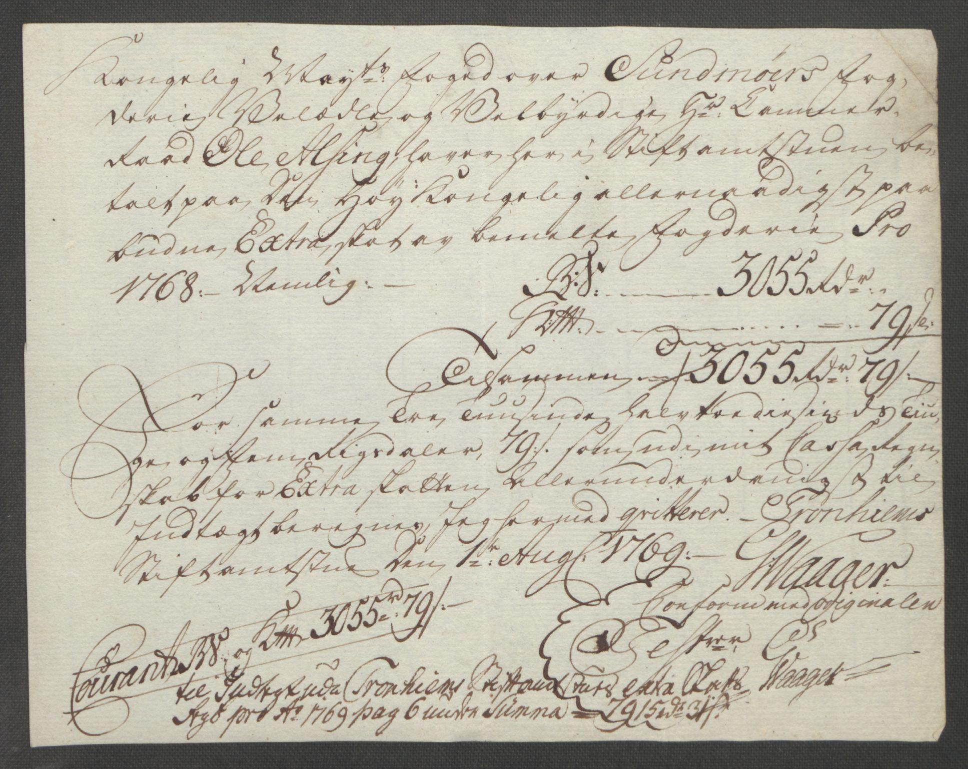 RA, Rentekammeret inntil 1814, Reviderte regnskaper, Fogderegnskap, R54/L3645: Ekstraskatten Sunnmøre, 1762-1772, s. 134
