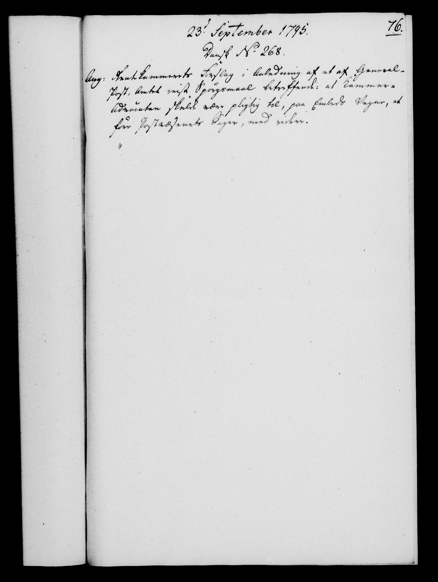 RA, Rentekammeret, Kammerkanselliet, G/Gf/Gfa/L0077: Norsk relasjons- og resolusjonsprotokoll (merket RK 52.77), 1795, s. 377