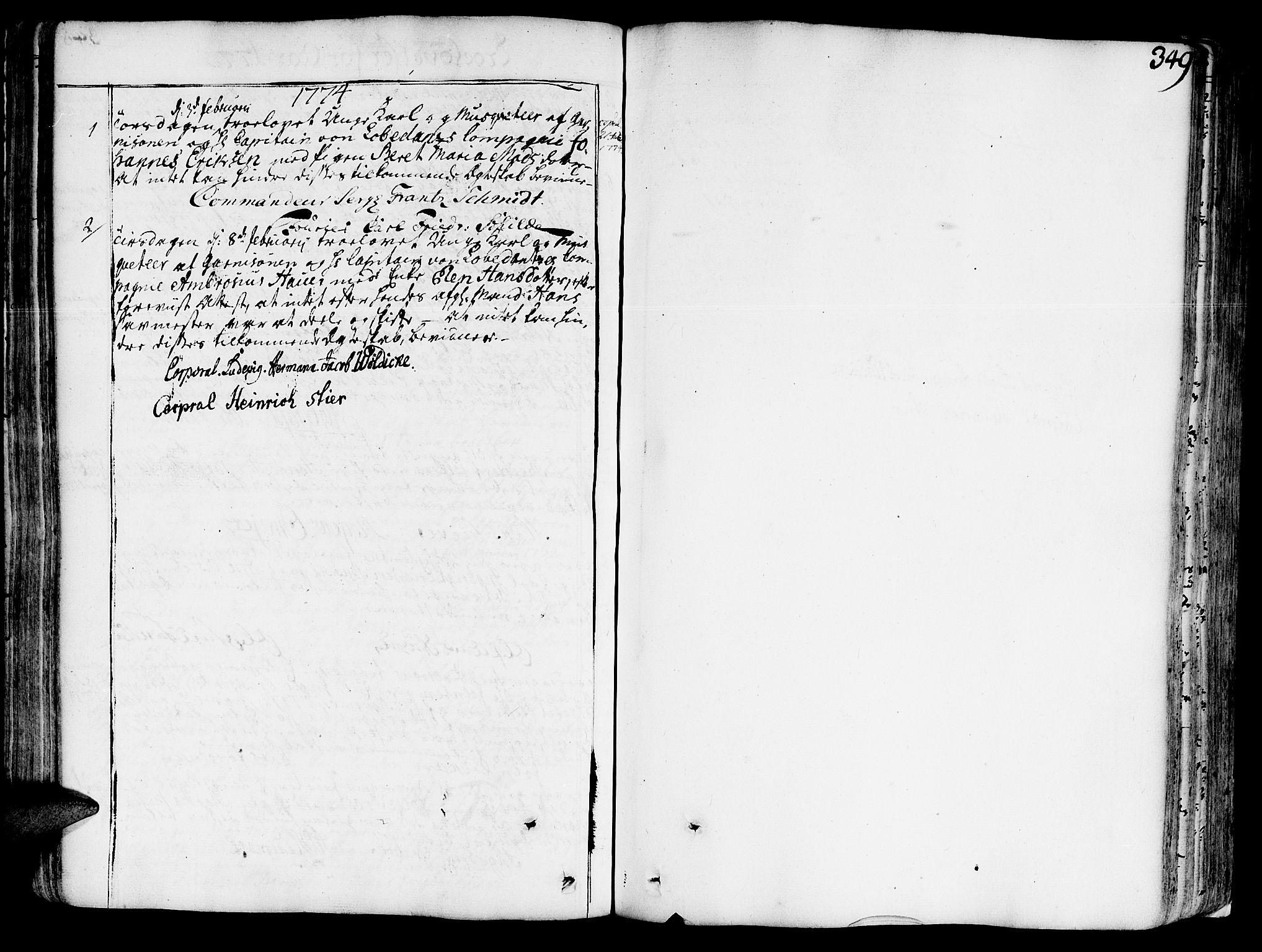 SAT, Ministerialprotokoller, klokkerbøker og fødselsregistre - Sør-Trøndelag, 602/L0103: Ministerialbok nr. 602A01, 1732-1774, s. 349