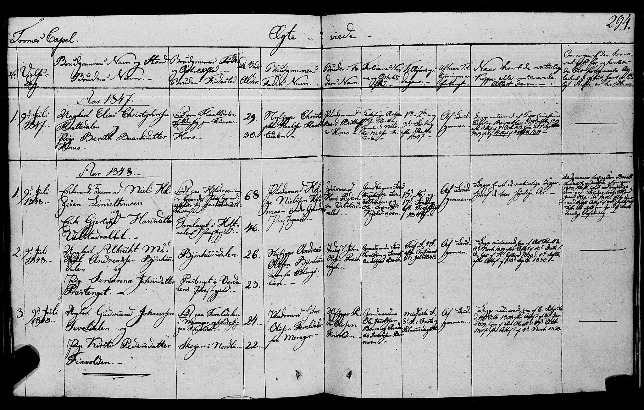 SAT, Ministerialprotokoller, klokkerbøker og fødselsregistre - Nord-Trøndelag, 762/L0538: Ministerialbok nr. 762A02 /2, 1833-1879, s. 294