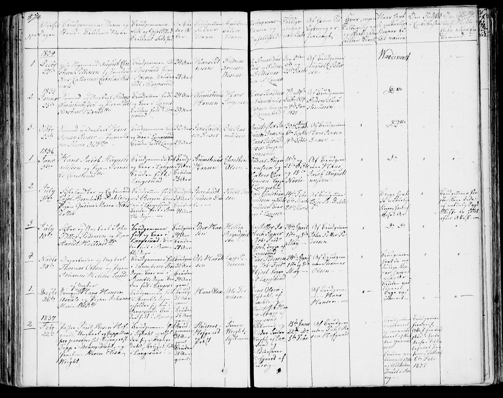 SAKO, Bamble kirkebøker, F/Fa/L0004: Ministerialbok nr. I 4, 1834-1853, s. 878-879