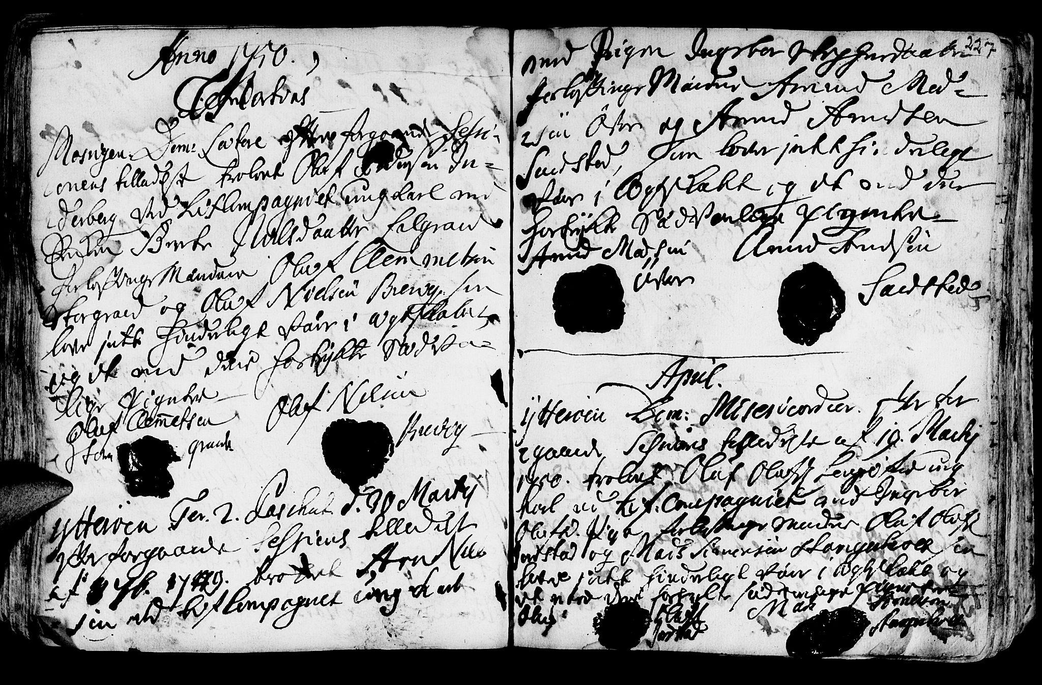 SAT, Ministerialprotokoller, klokkerbøker og fødselsregistre - Nord-Trøndelag, 722/L0215: Ministerialbok nr. 722A02, 1718-1755, s. 227