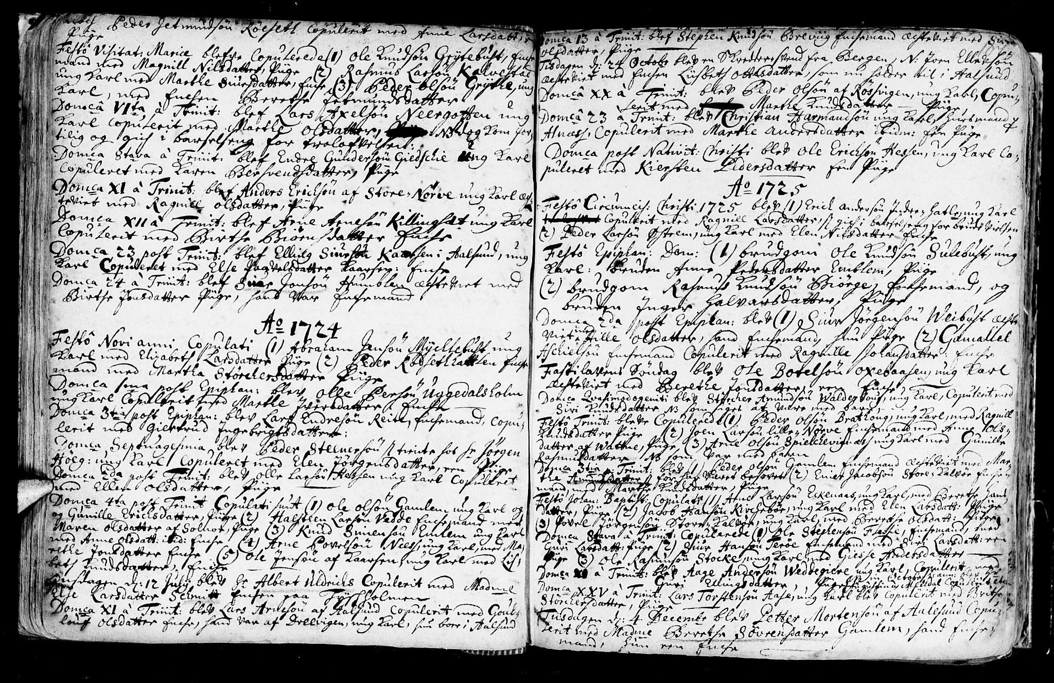 SAT, Ministerialprotokoller, klokkerbøker og fødselsregistre - Møre og Romsdal, 528/L0390: Ministerialbok nr. 528A01, 1698-1739, s. 106-107
