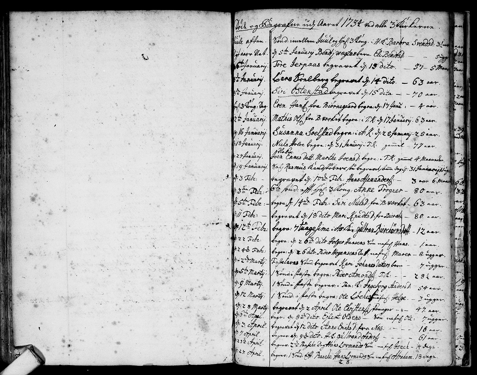 SAO, Asker prestekontor Kirkebøker, F/Fa/L0001: Ministerialbok nr. I 1, 1726-1744, s. 95