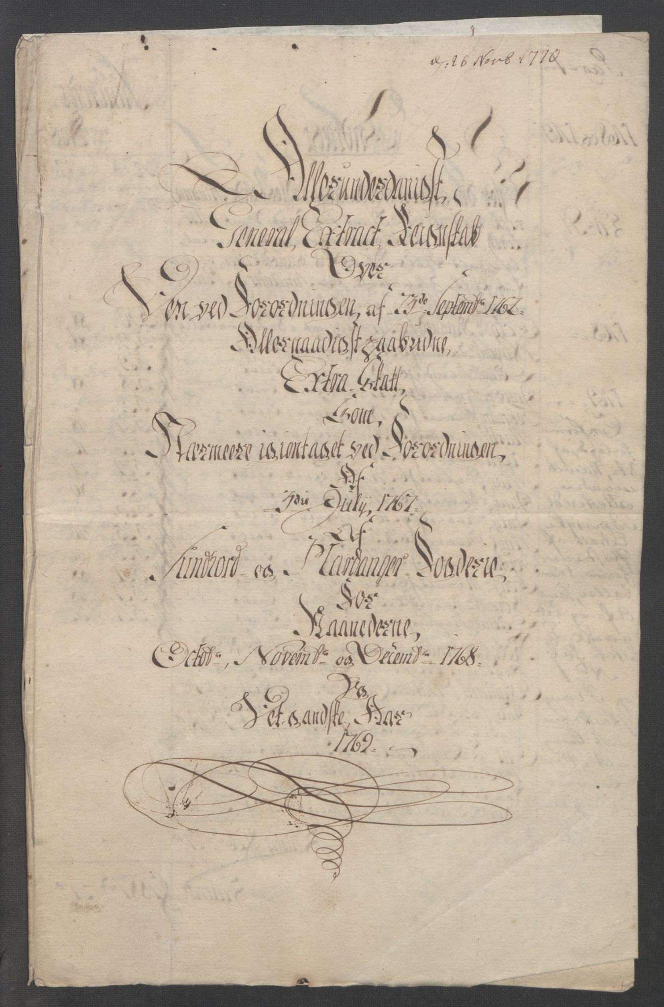 RA, Rentekammeret inntil 1814, Reviderte regnskaper, Fogderegnskap, R48/L3136: Ekstraskatten Sunnhordland og Hardanger, 1762-1772, s. 179