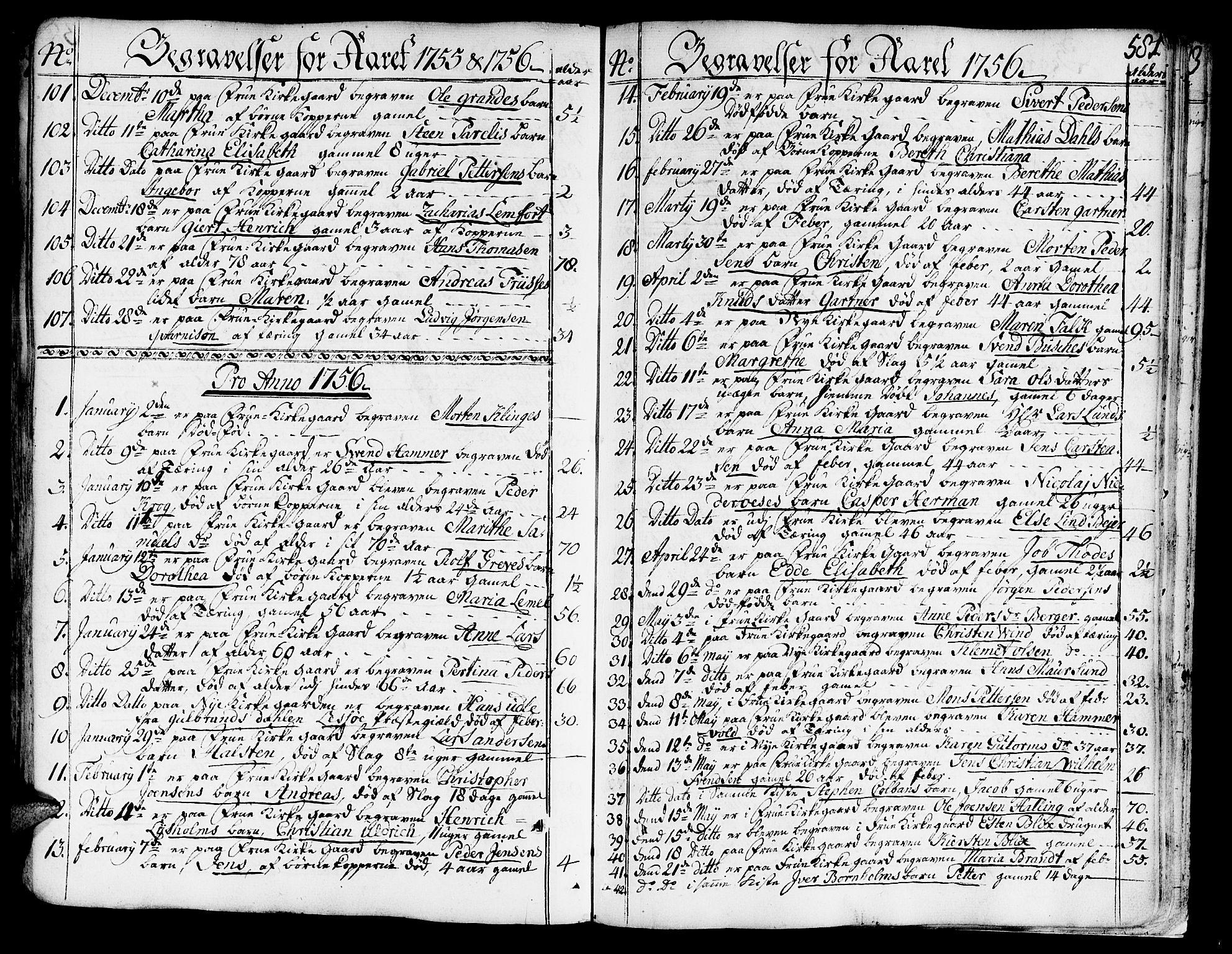 SAT, Ministerialprotokoller, klokkerbøker og fødselsregistre - Sør-Trøndelag, 602/L0103: Ministerialbok nr. 602A01, 1732-1774, s. 581