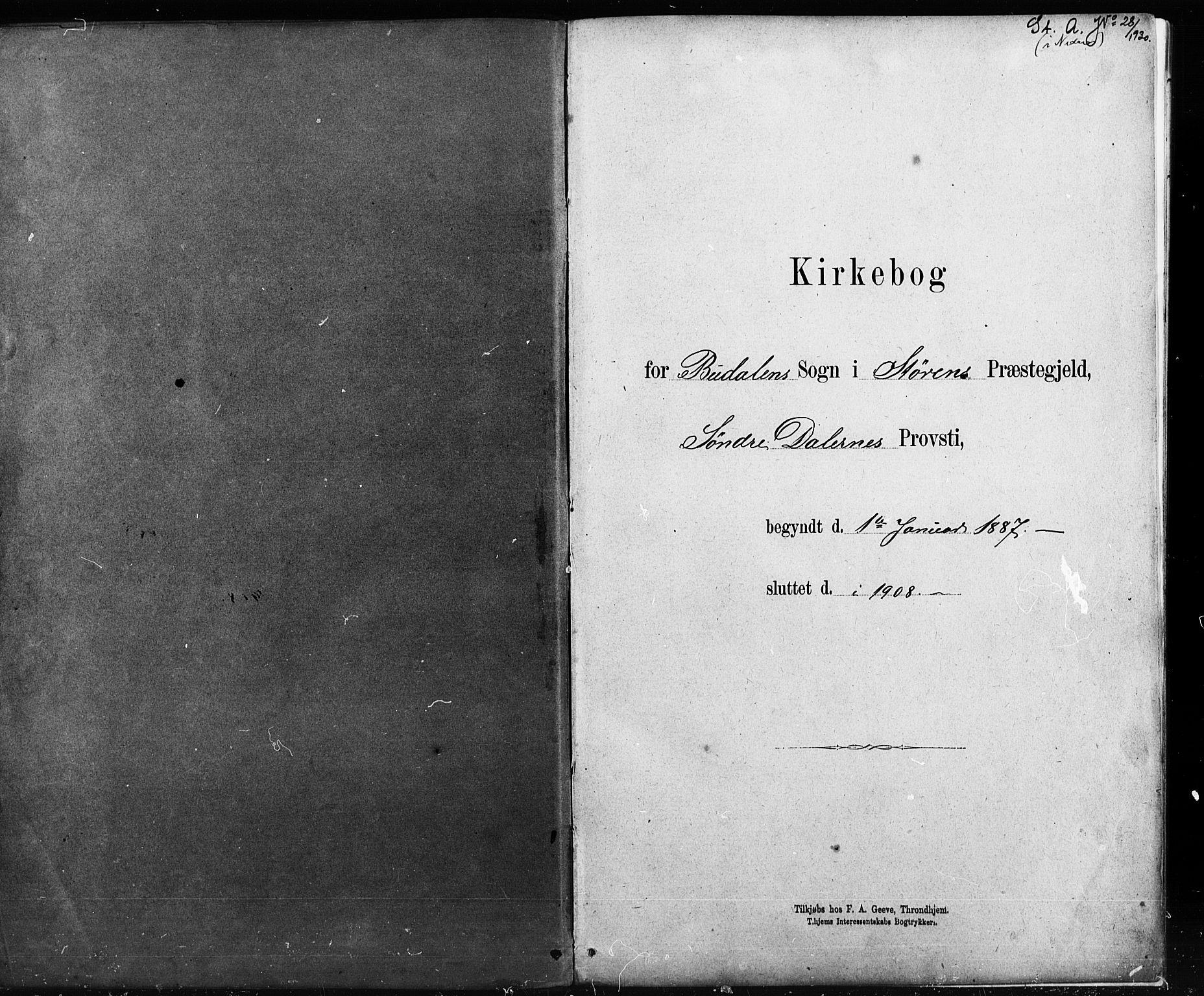 SAT, Ministerialprotokoller, klokkerbøker og fødselsregistre - Sør-Trøndelag, 690/L1051: Klokkerbok nr. 690C01, 1887-1908
