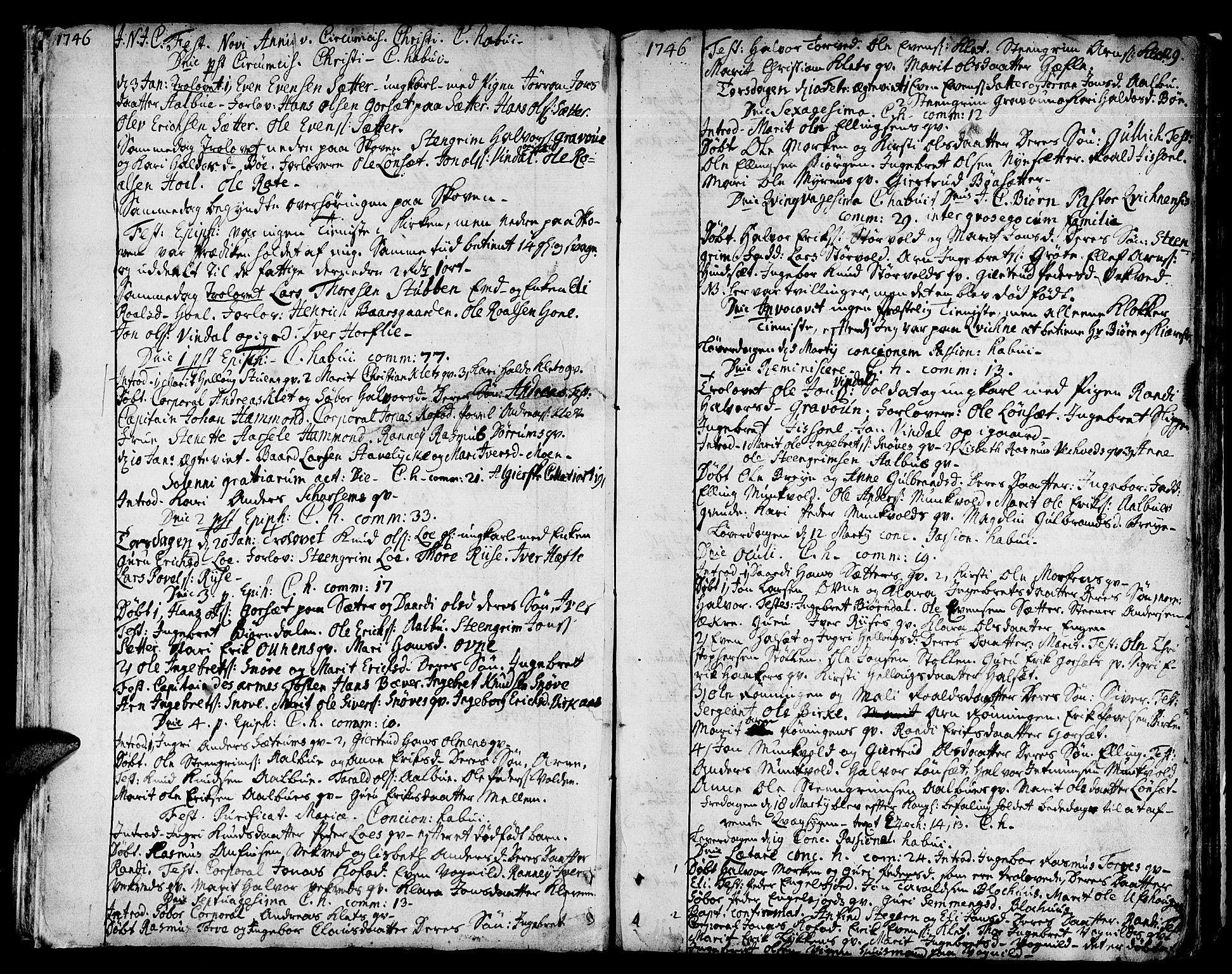 SAT, Ministerialprotokoller, klokkerbøker og fødselsregistre - Sør-Trøndelag, 678/L0891: Ministerialbok nr. 678A01, 1739-1780, s. 29